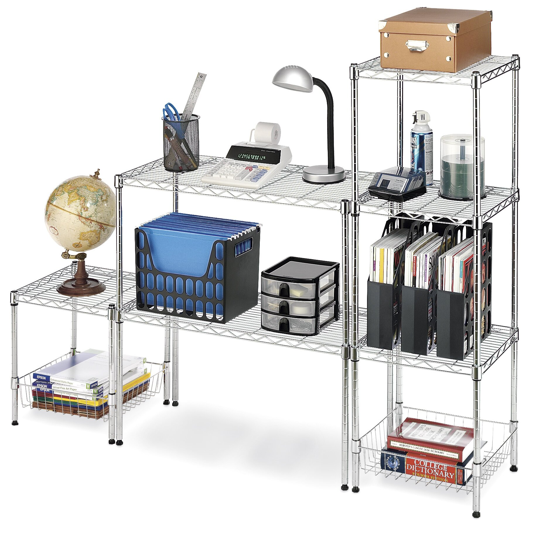 whitmor inc supreme wide stacking shelf 14 quot shelving unit