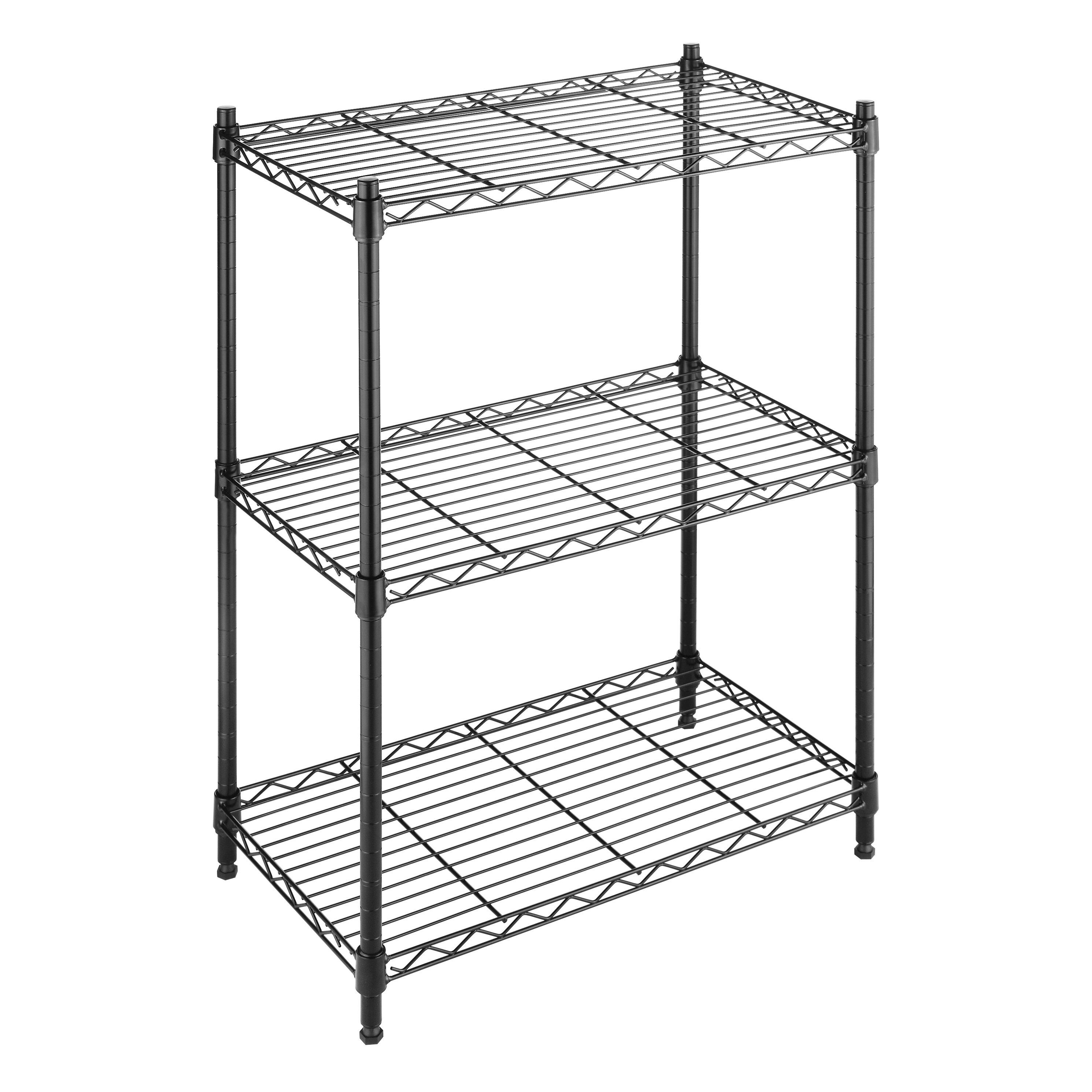 whitmor inc supreme small 3 tier 29 9 three shelf. Black Bedroom Furniture Sets. Home Design Ideas