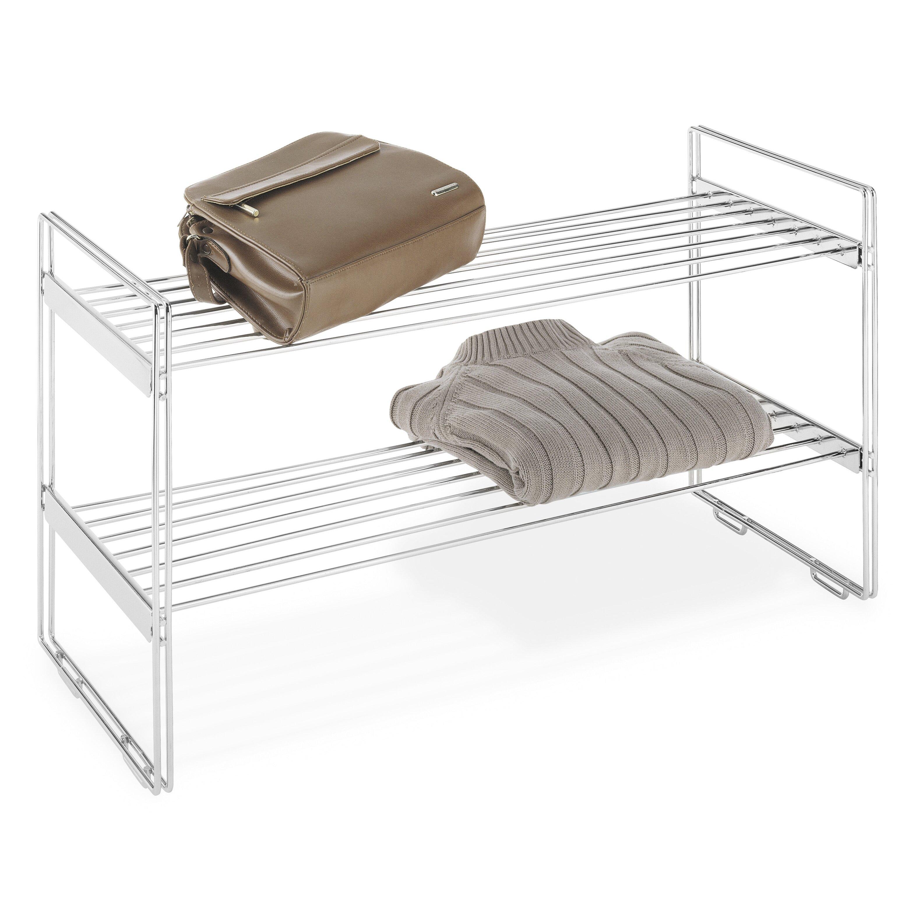 Whitmor Inc Stackable Closet Shelves Amp Reviews Wayfair