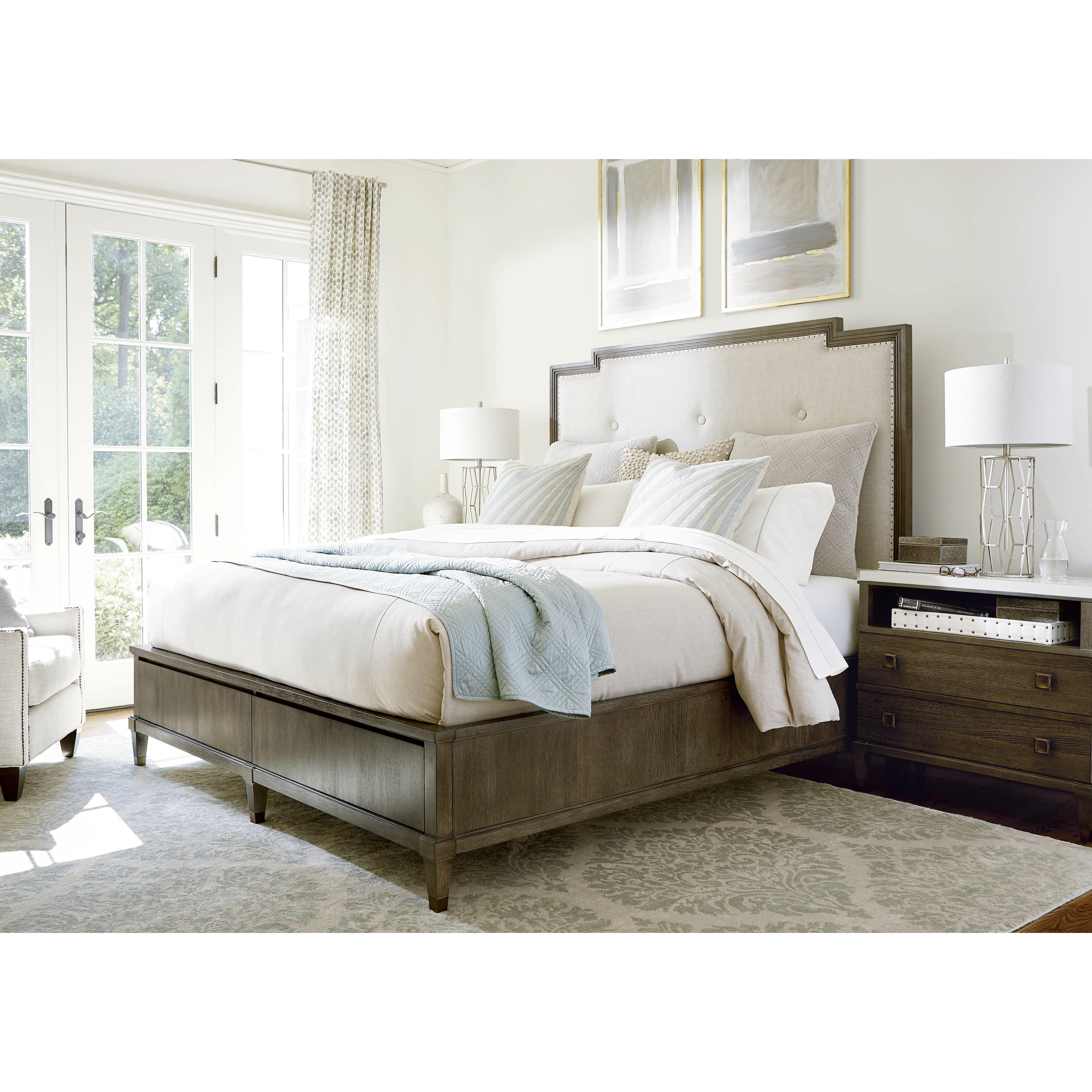 Universal furniture playlist upholstered storage platform - Platform bedroom sets with storage ...