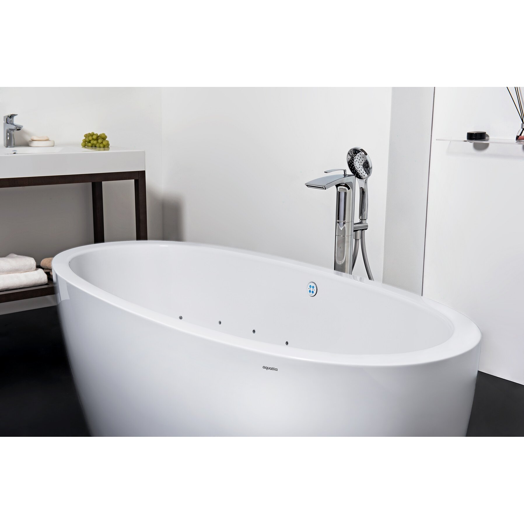 Aquatica purescape 63 x 30 whirlpool bathtub wayfair for Pros and cons of acrylic bathtubs