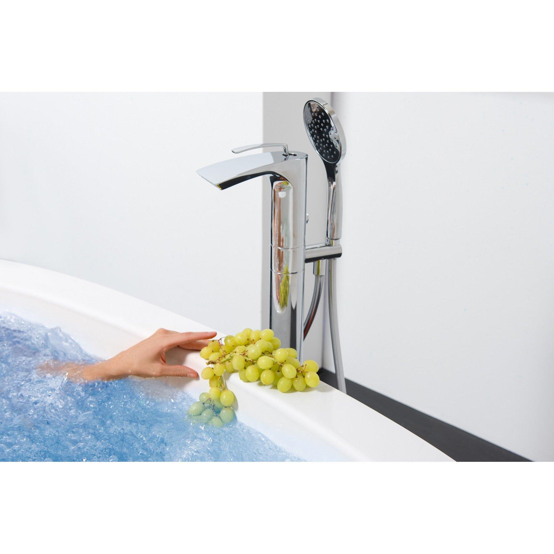 aquatica bollicine single handle floor mount bath faucet sale on bath tub faucet with handheld shower