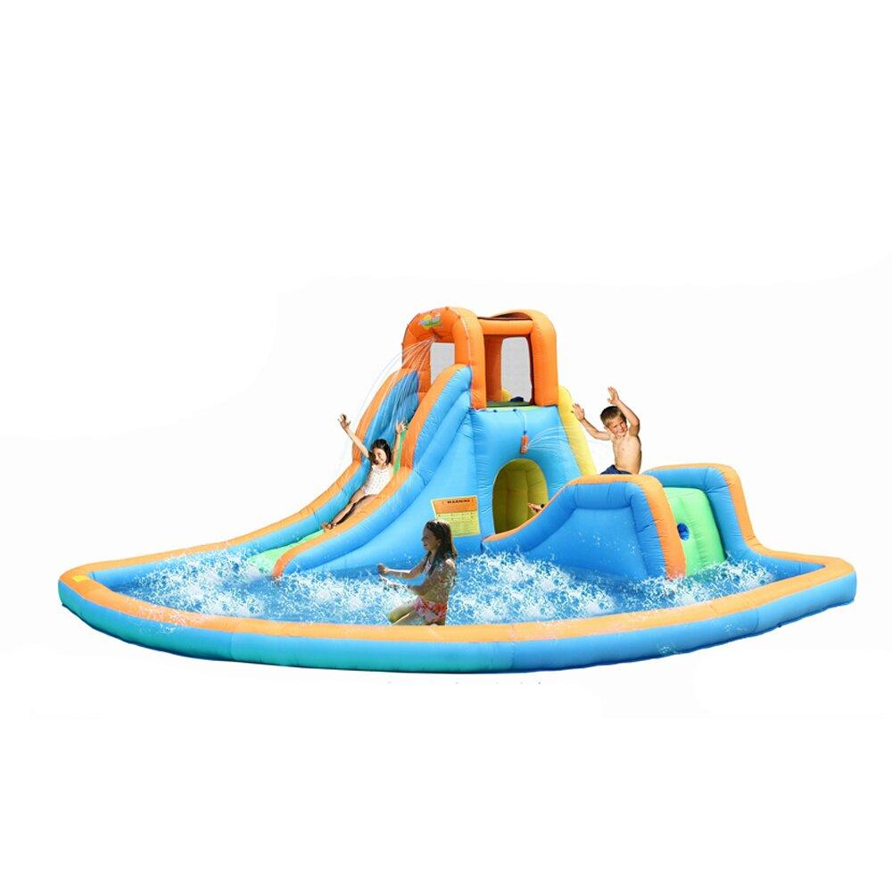 Inflatable Water Slides Llc: Bounceland Cascade Inflatable Water Slides With Large Pool