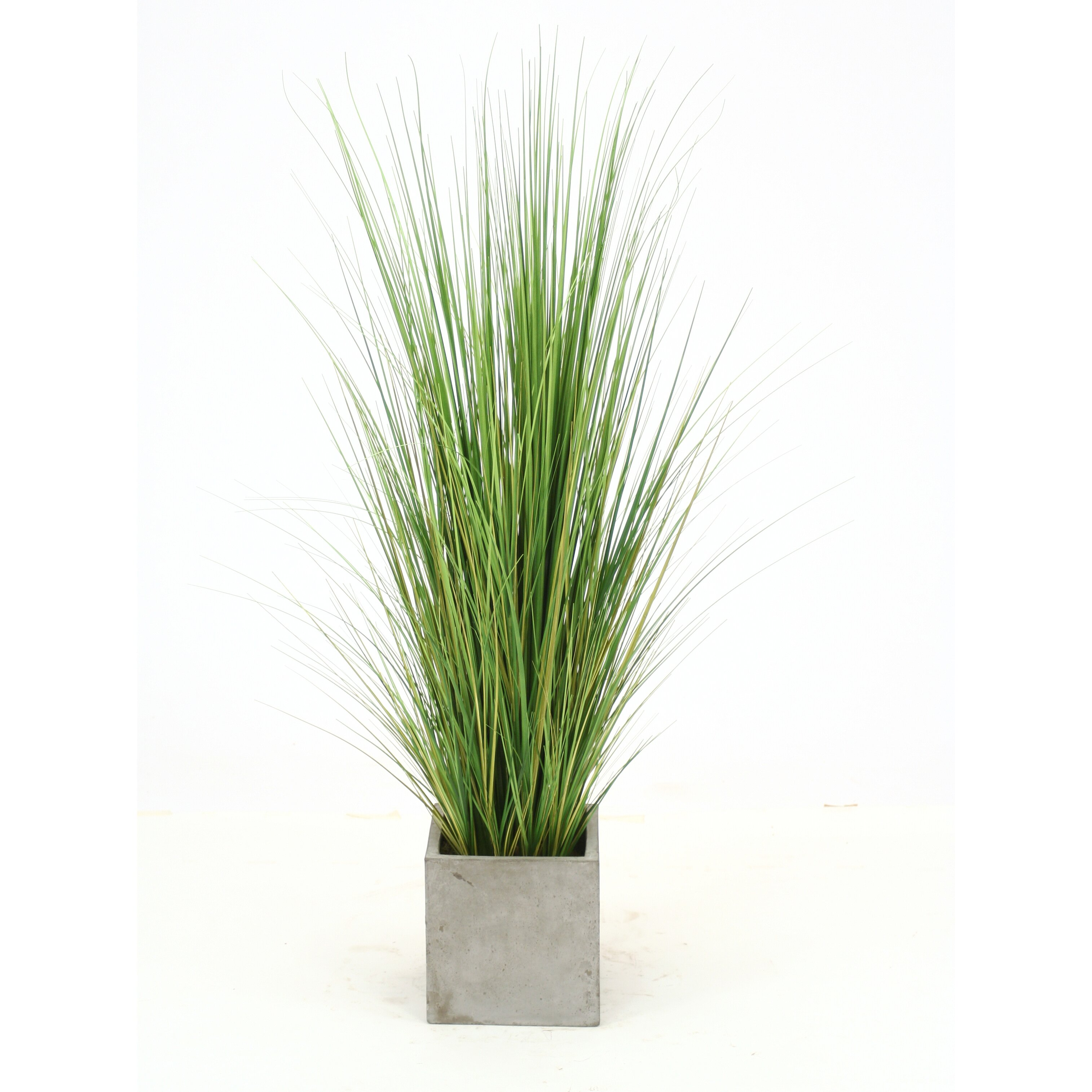 Distinctive designs artificial mixed grass in planter for Green floor plant