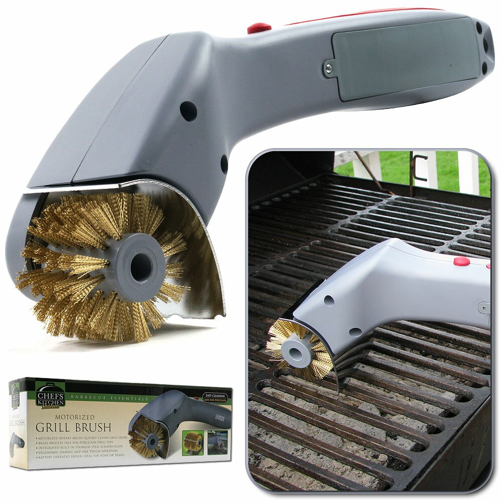 Chef buddy barbeque grill motorized cleaning brush amp reviews wayfair