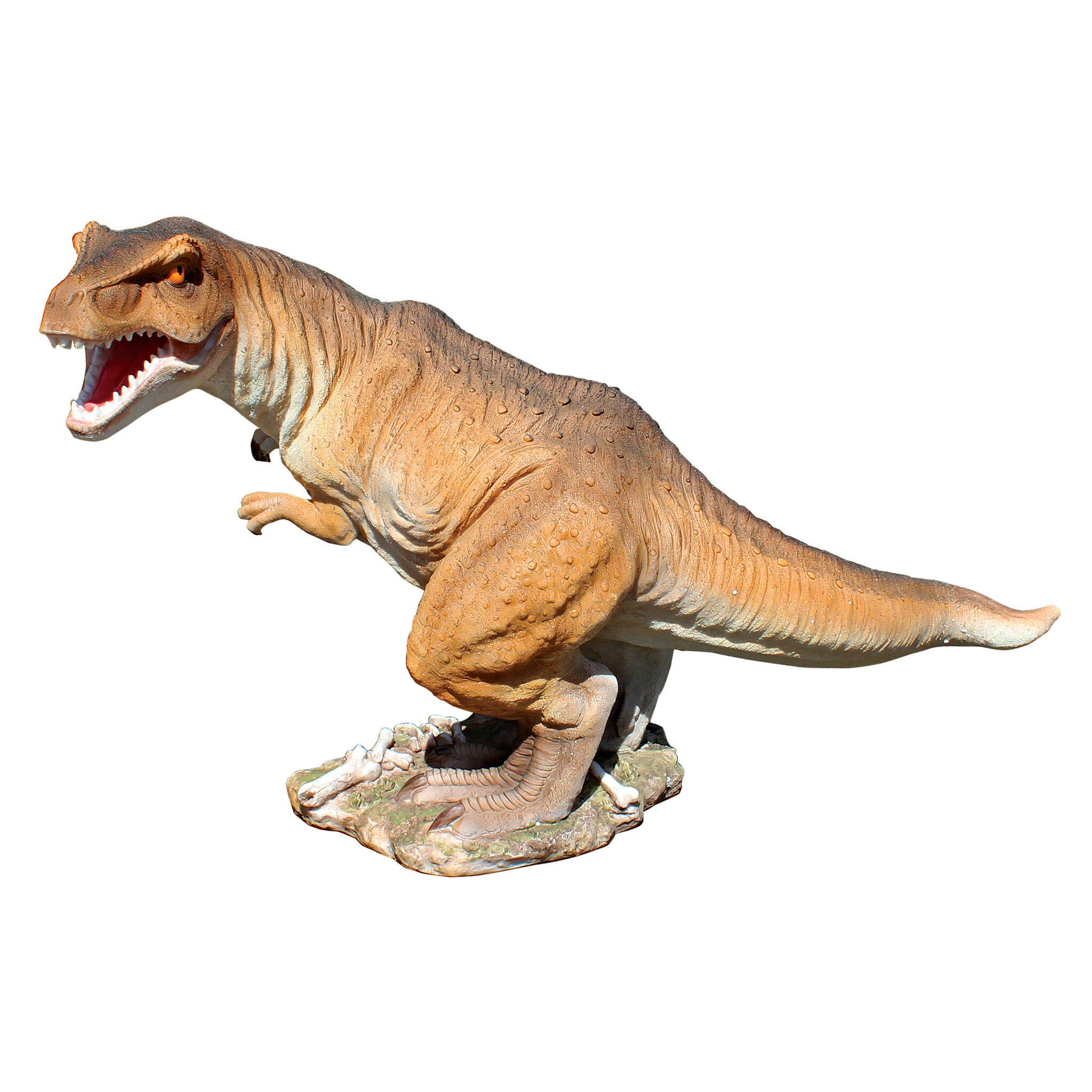 Design toscano scaled jurassic t rex raptor dinosaur statue reviews wayfair - Raptor dinosaure ...