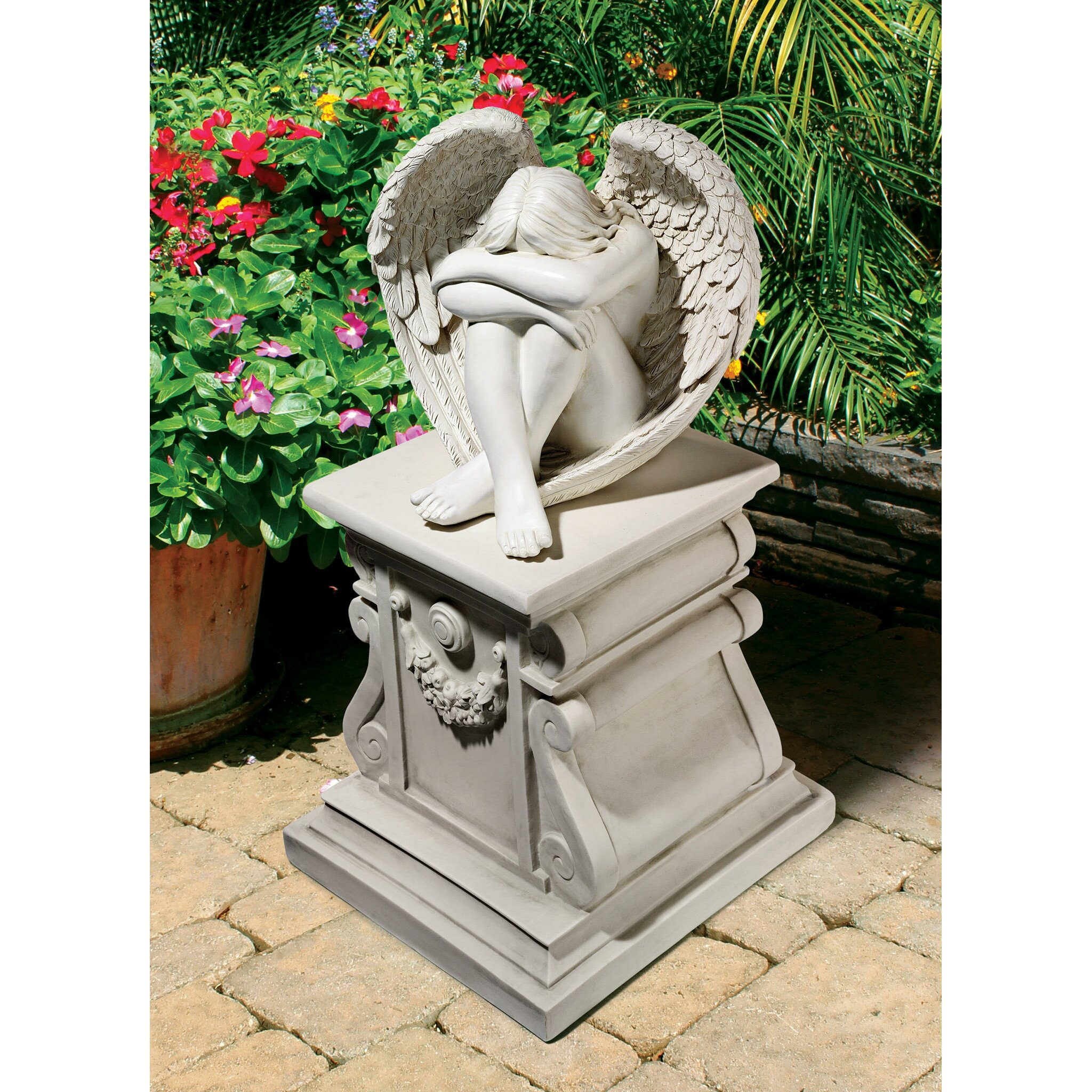 Sad Boy Alone Quotes: Design Toscano Serene Solitude Angel Statue & Reviews
