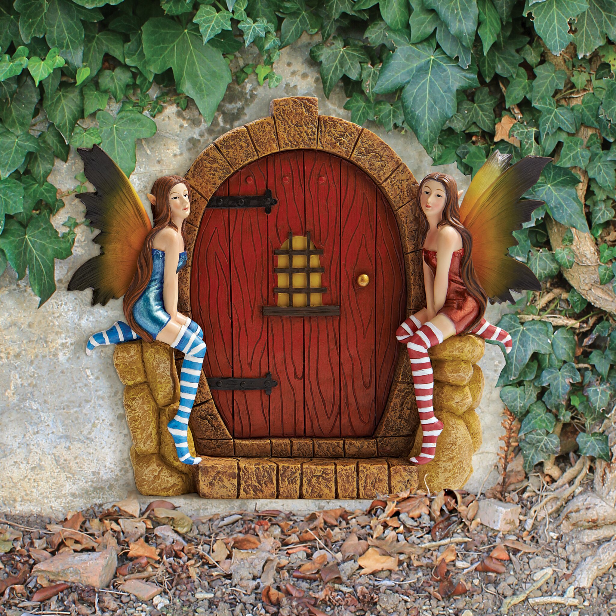 Design toscano the enchanted portal fairy door wall statue for Fairy door for wall