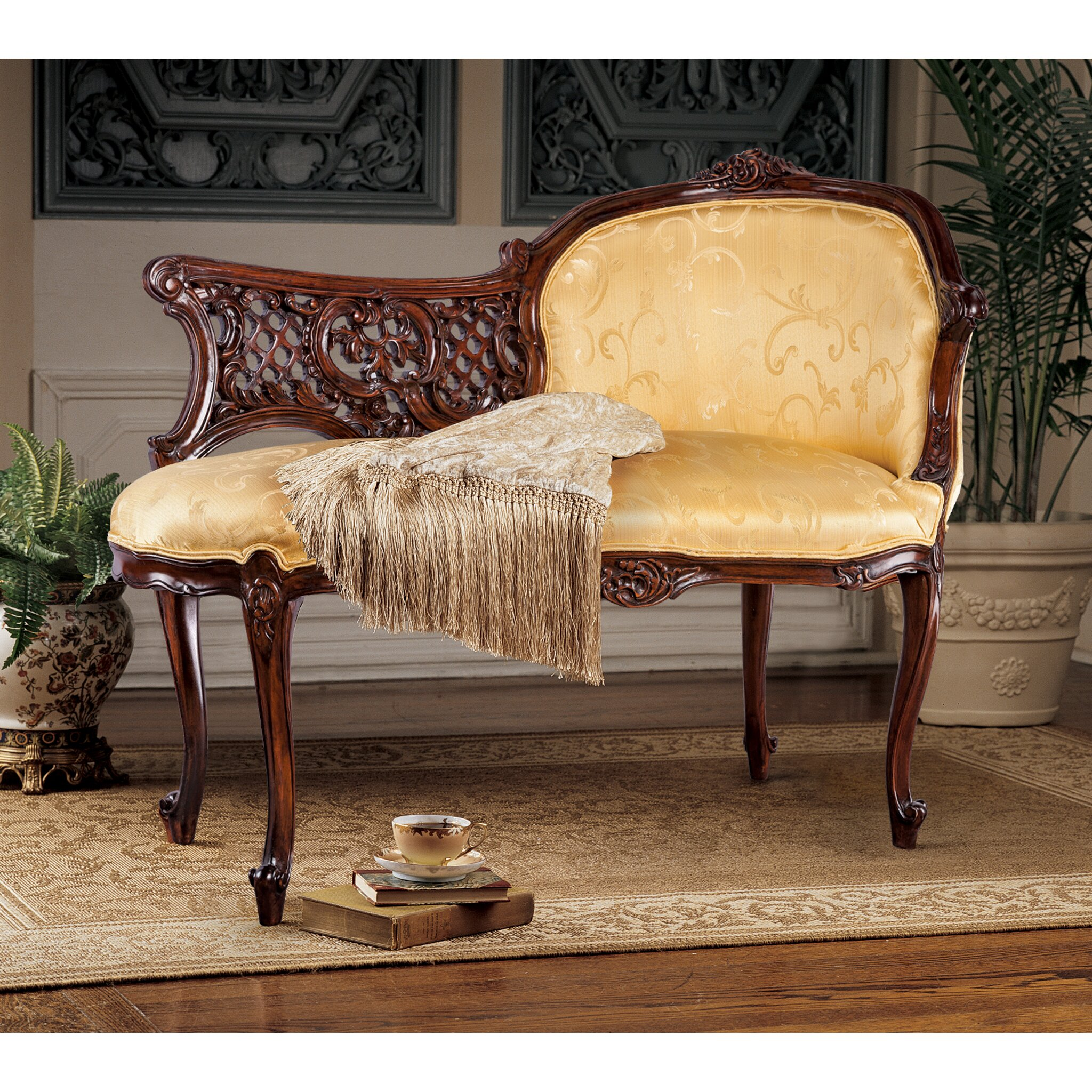 Design Toscano Madame Fabric Chaise Lounge & Reviews   Wayfair