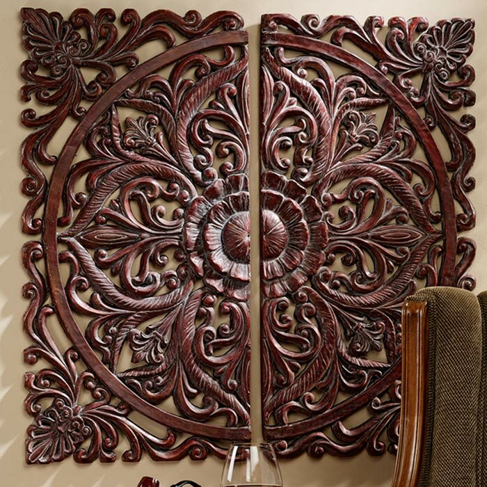 Design Toscano 2 Piece Carved Rosette Architectural Wall