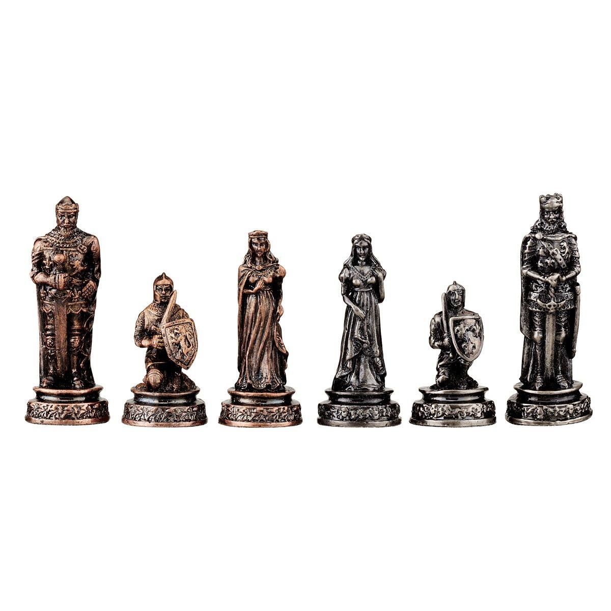 Design toscano decorative knights 39 mortal conflict chess - Decorative beautiful chess sets ...
