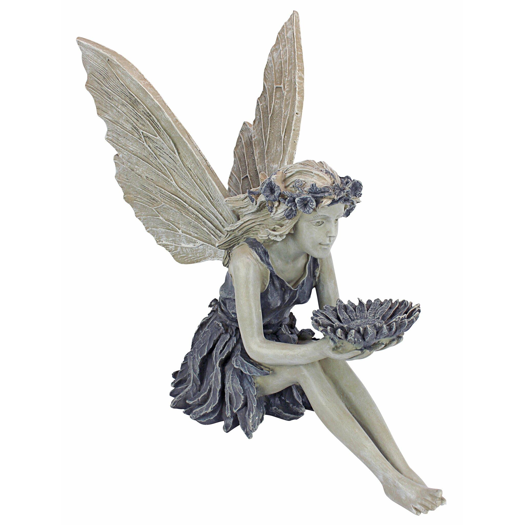 Design toscano the sunflower fairy statue reviews wayfair - Fairy statues for sale ...