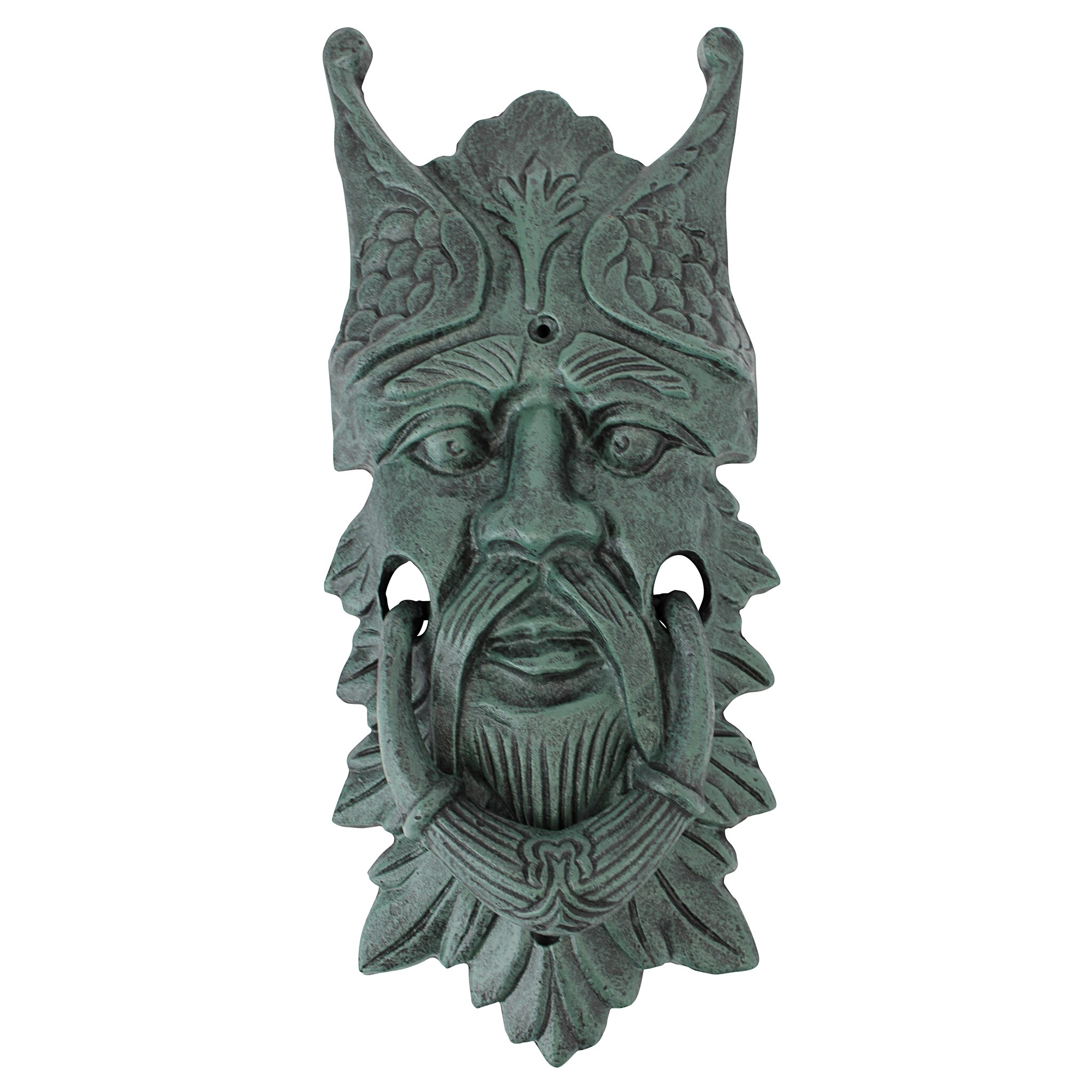 Design toscano castle gladstone greenman door knocker reviews wayfair - Greenman door knocker ...