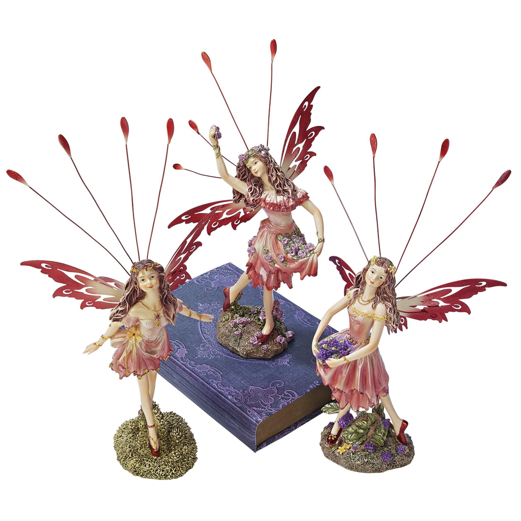 Design toscano victorian fairy crosstweed meadow figurine for Design toscano