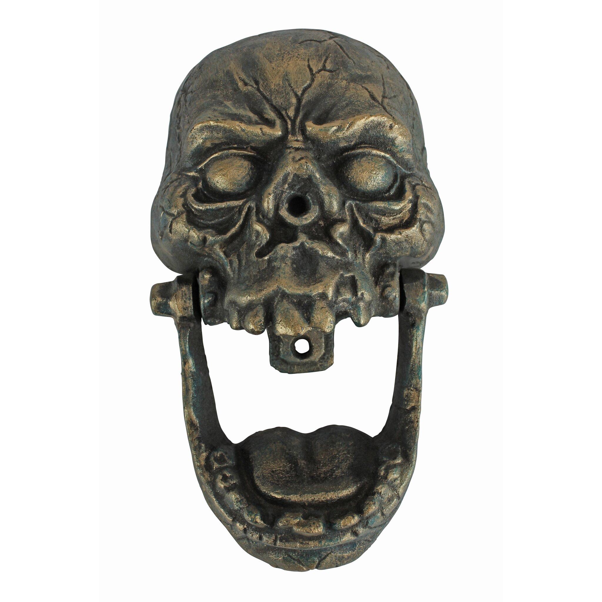 Design Toscano Knock Jaw Skull Cast Iron Door Knocker  : Design Toscano Knock Jaw Skull Cast Iron Door Knocker SP2716 from www.wayfair.com size 2048 x 2048 jpeg 582kB