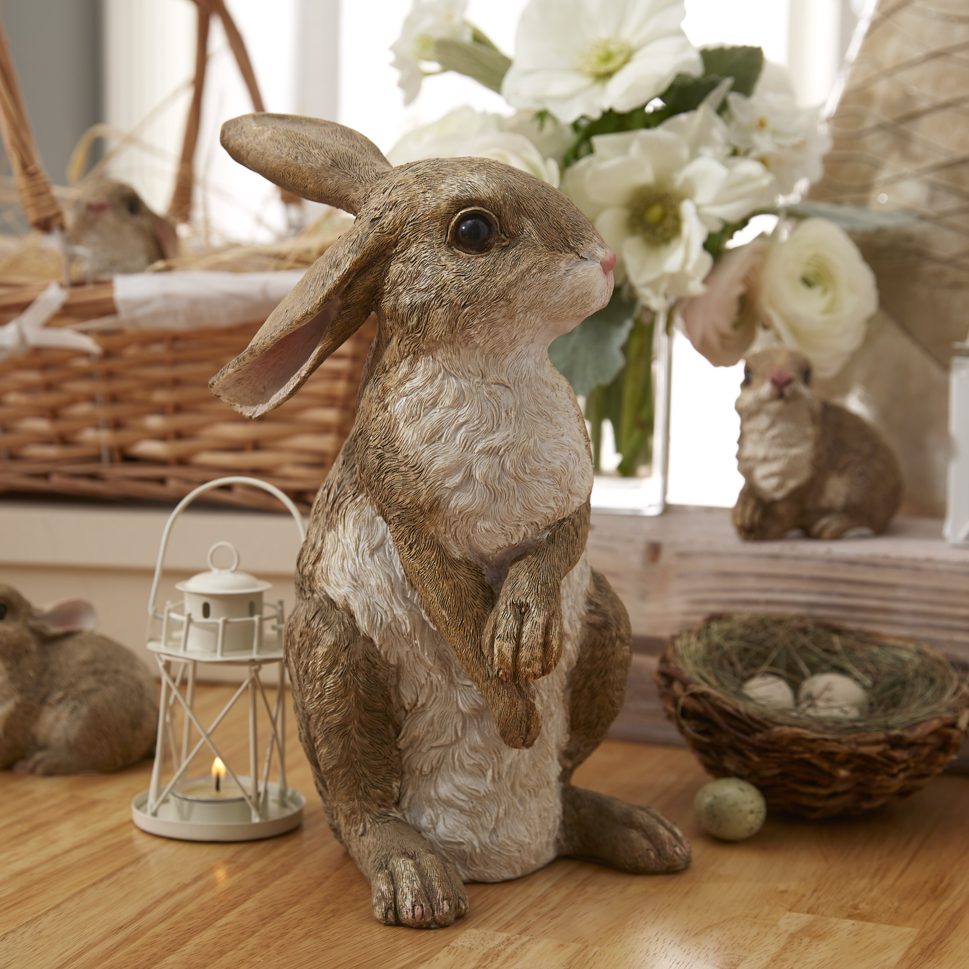 design toscano hopper  the bunny  standing garden rabbit statue  u0026 reviews
