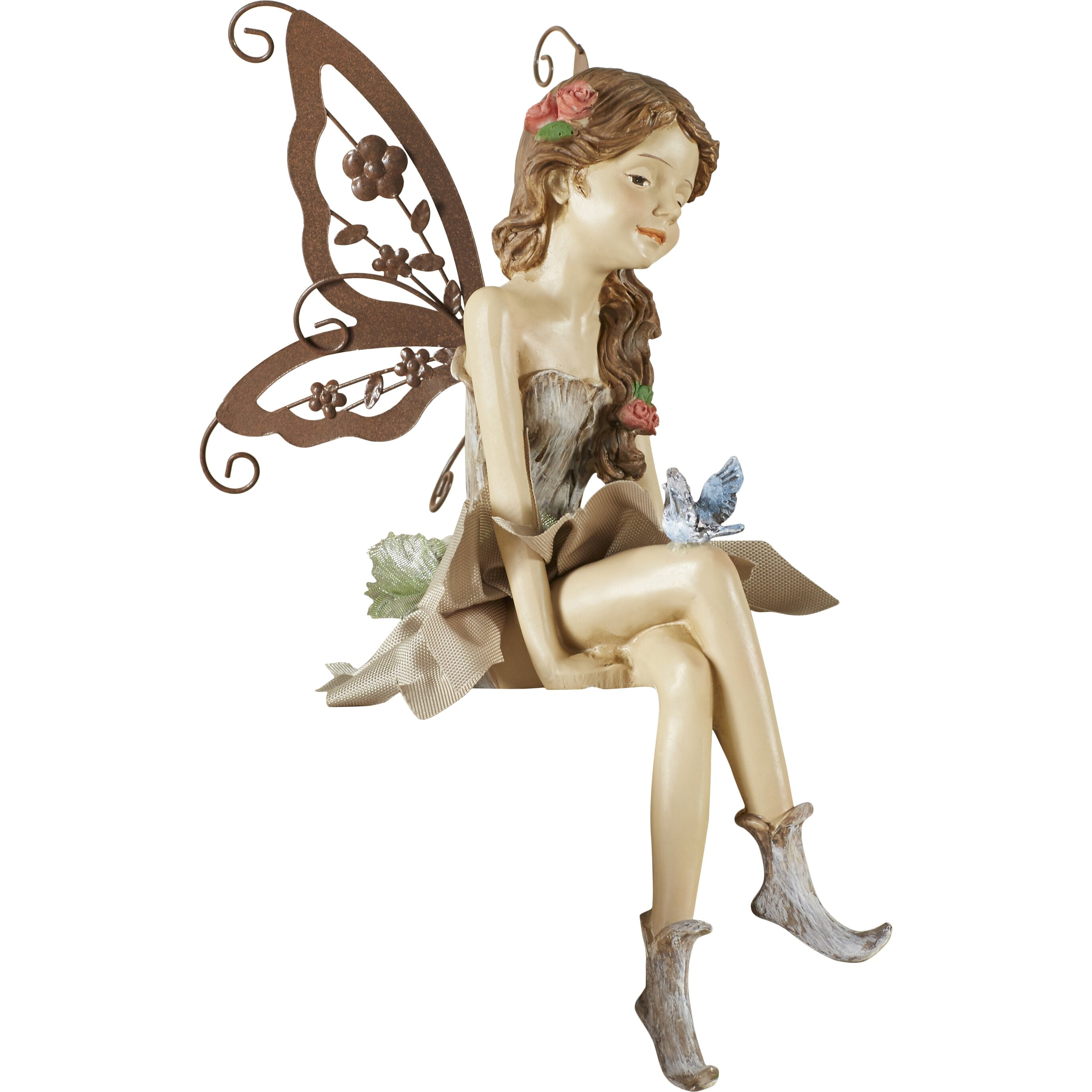 Design Toscano Fannie The Fairy Sitting Statue Amp Reviews