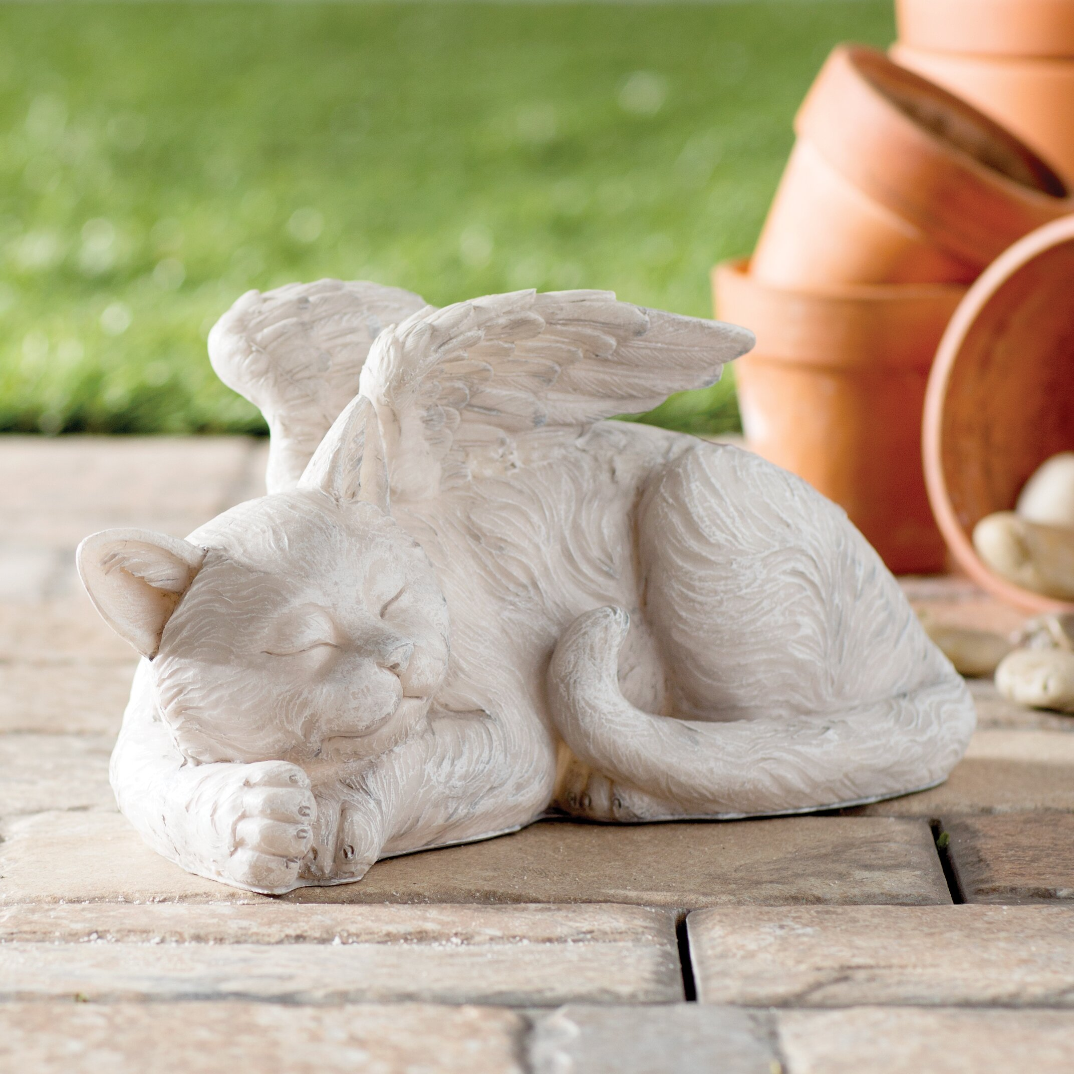 Design Toscano Cat Memorial Angel Pet Statue Amp Reviews