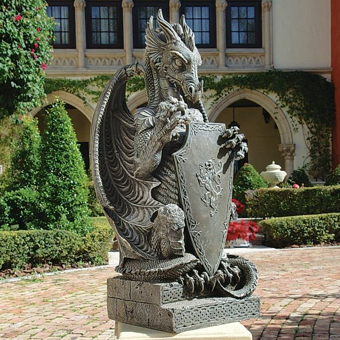 Design toscano the grande dragon sentinel statue wayfair - Grande statue design ...