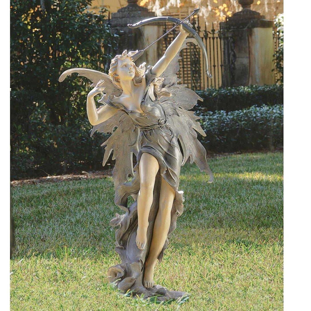 Wayfair Garden Statues: Design Toscano Rhiannon The Archer Garden Fairy Statue