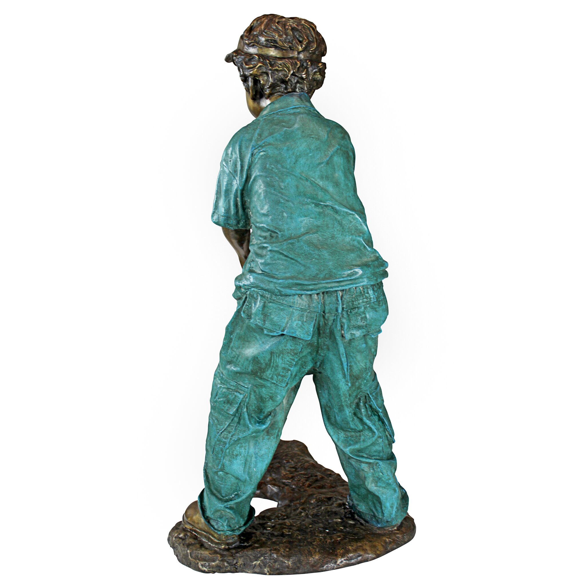 Design Toscano Gabe The Boy Golfer Cast Bronze Garden