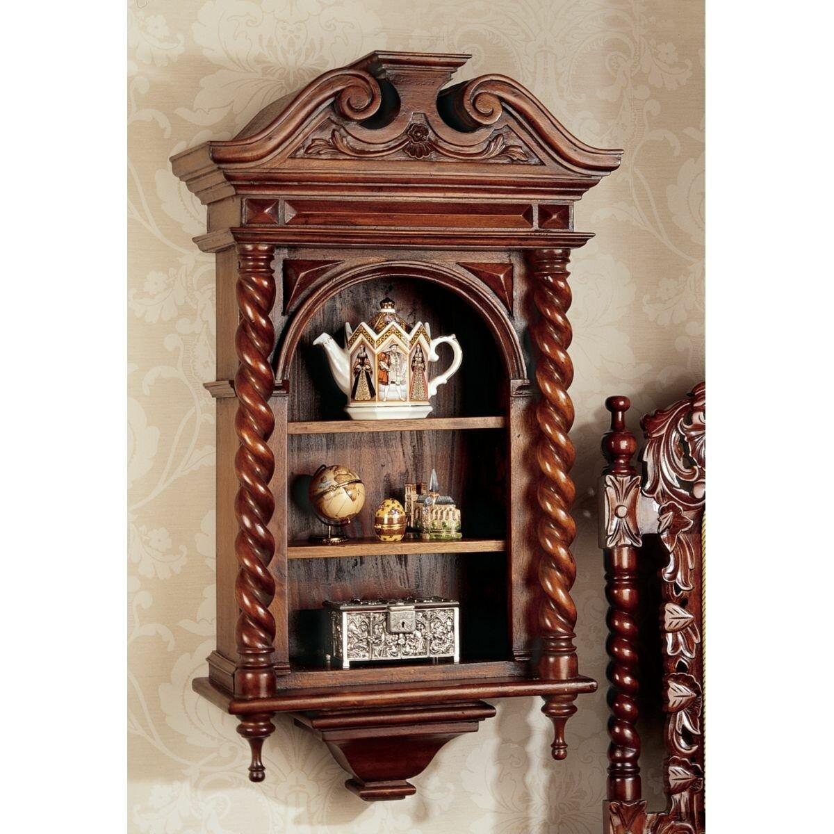 design toscano charles ii wall mounted curio cabinet. Black Bedroom Furniture Sets. Home Design Ideas