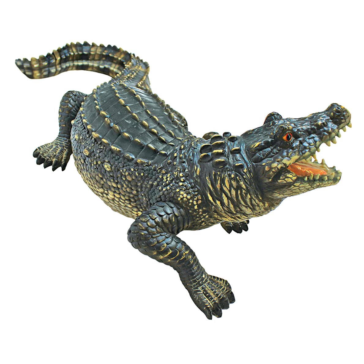 Design toscano the agitated alligator swamp gator statue for Alligator yard decoration