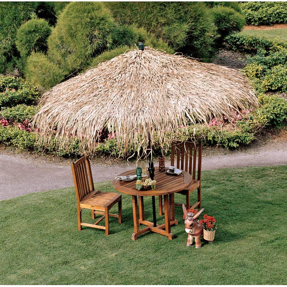 Design Toscano Tropical Thatch Umbrella Cover & Reviews ...