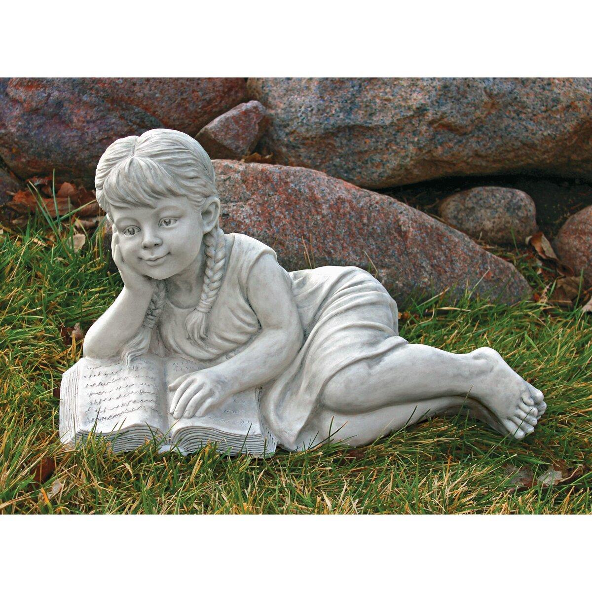 Design Toscano Reading Rebecca Garden Scholar Statue