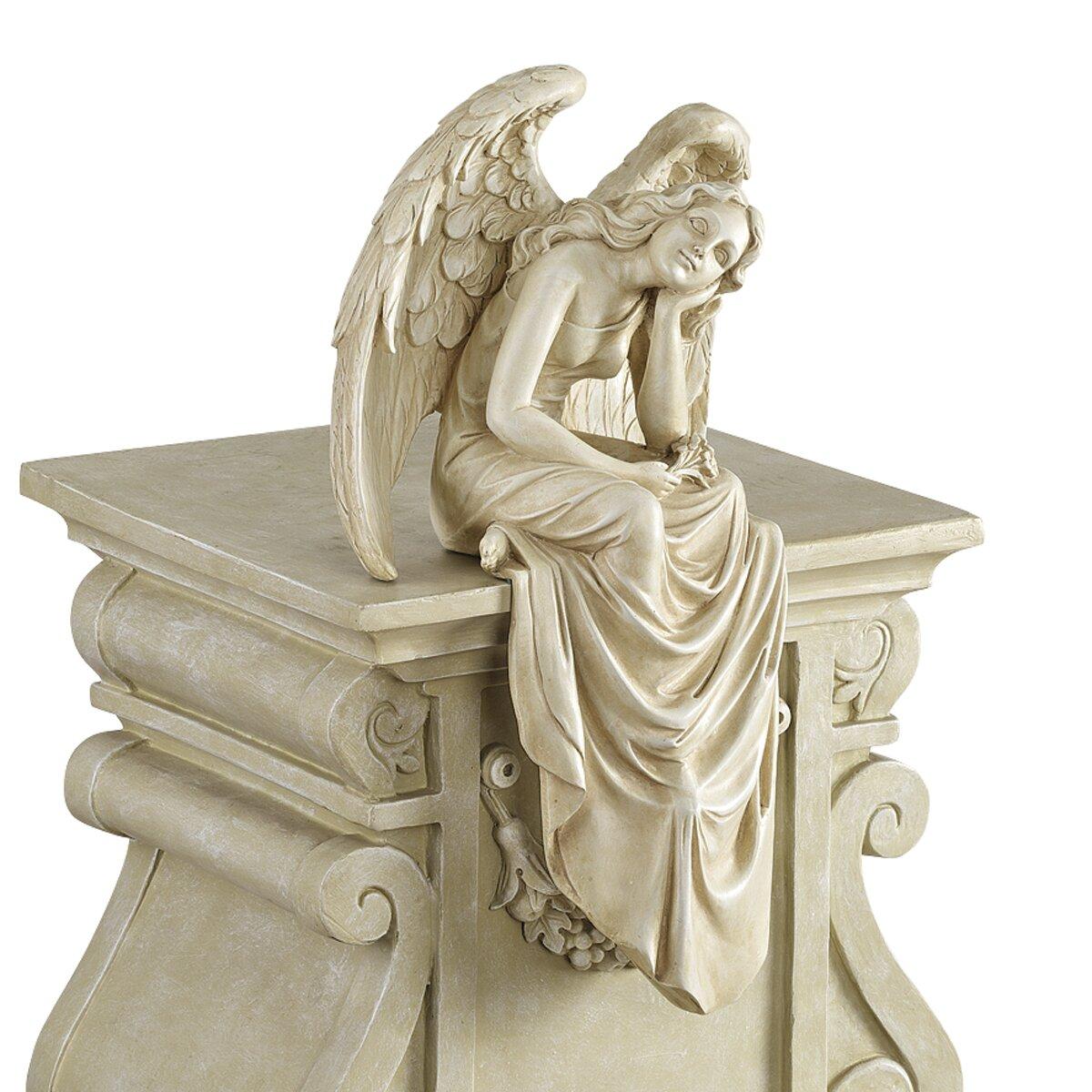 Wayfair Garden Statues: Design Toscano Resting Grace Sitting Angel Statue