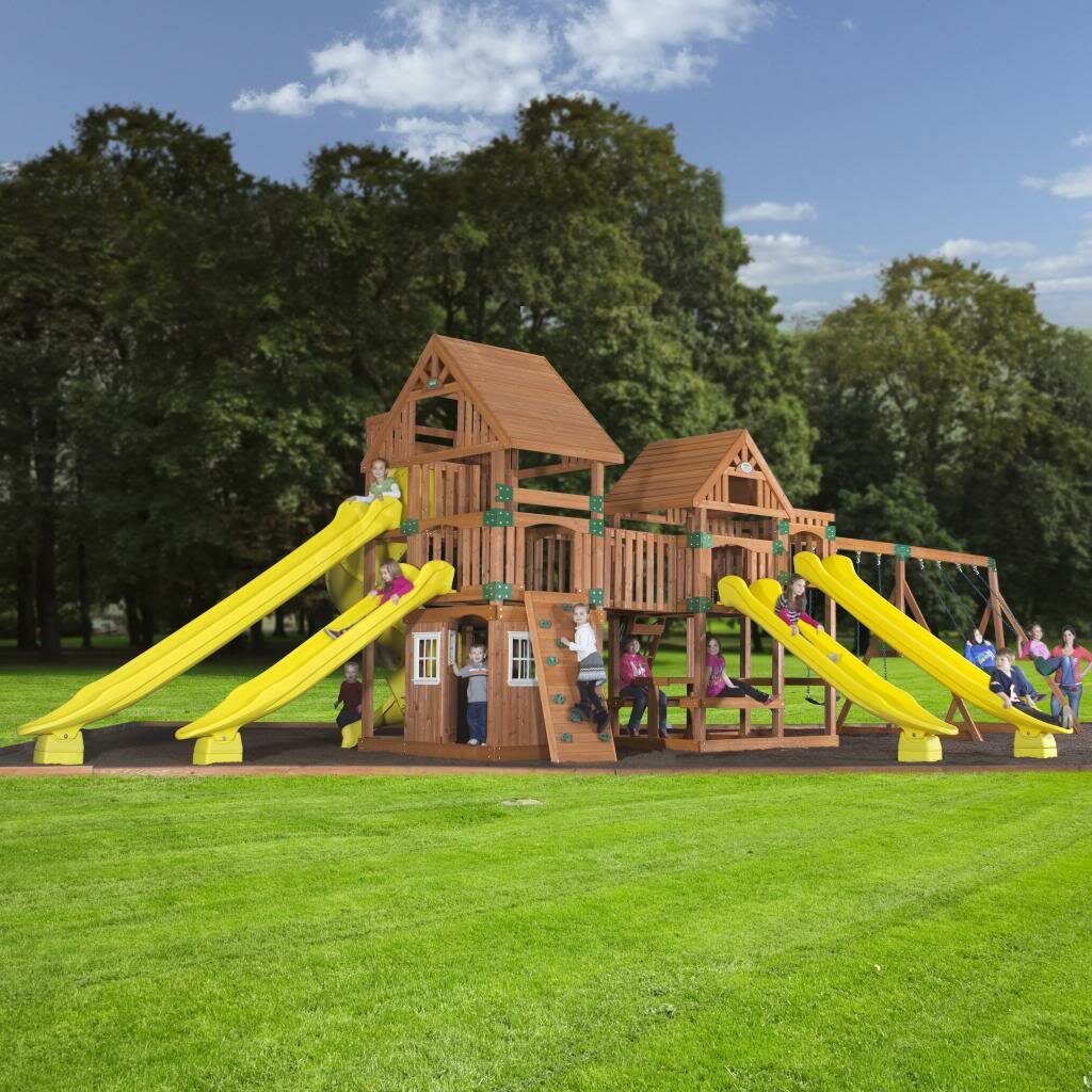 backyard discovery safari cedar all cedar swing set reviews