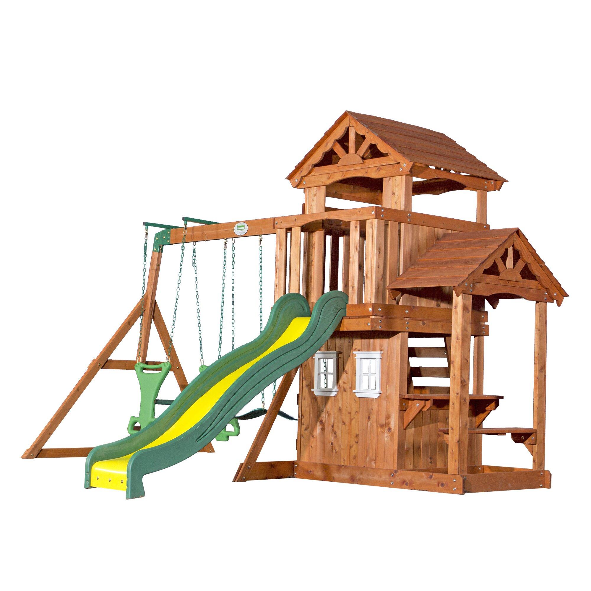 Walmart Kids Bedroom Backyard Discovery Tanglewood All Cedar Swing Set