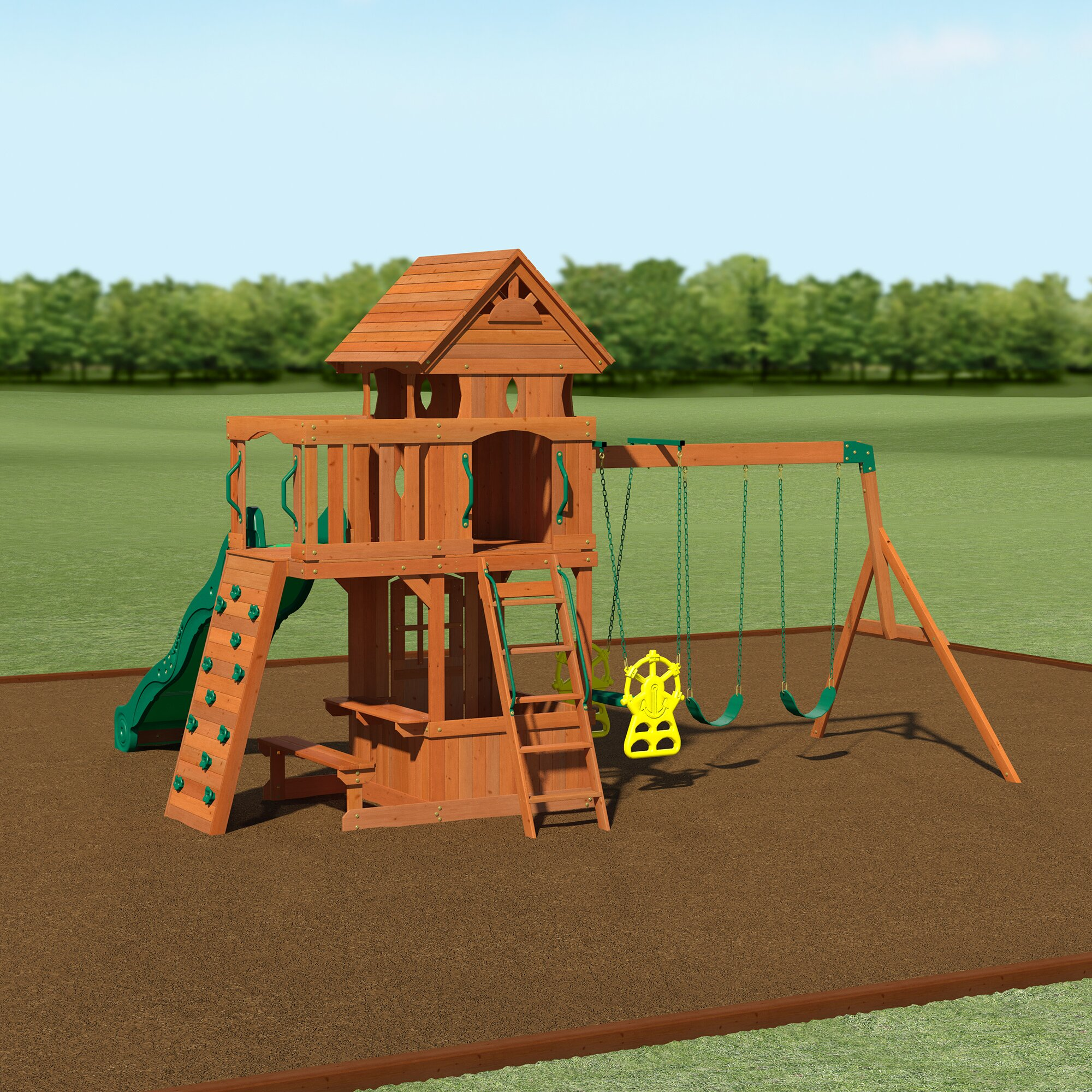 100 backyard discovery tanglewood stan hallett swing set