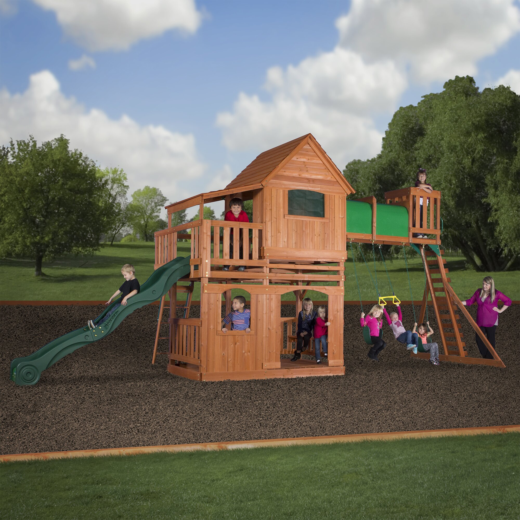 backyard discovery woodridge all cedar swing play set pictures to