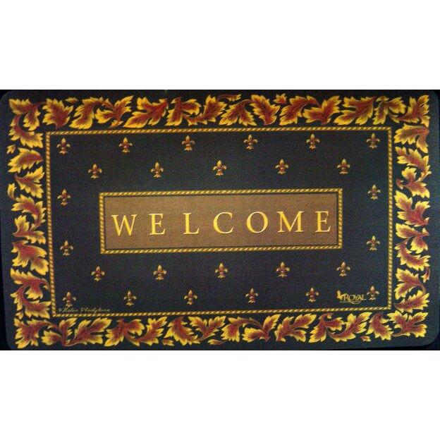 Custom Printed Rugs Regal Fleur De Lis Doormat Reviews