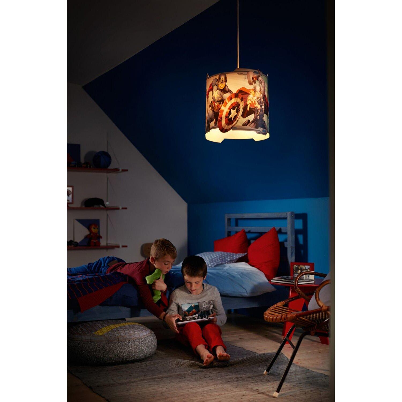 Philips kids room marvel avengers 1 light mini pendant for Hanging lights for kids room