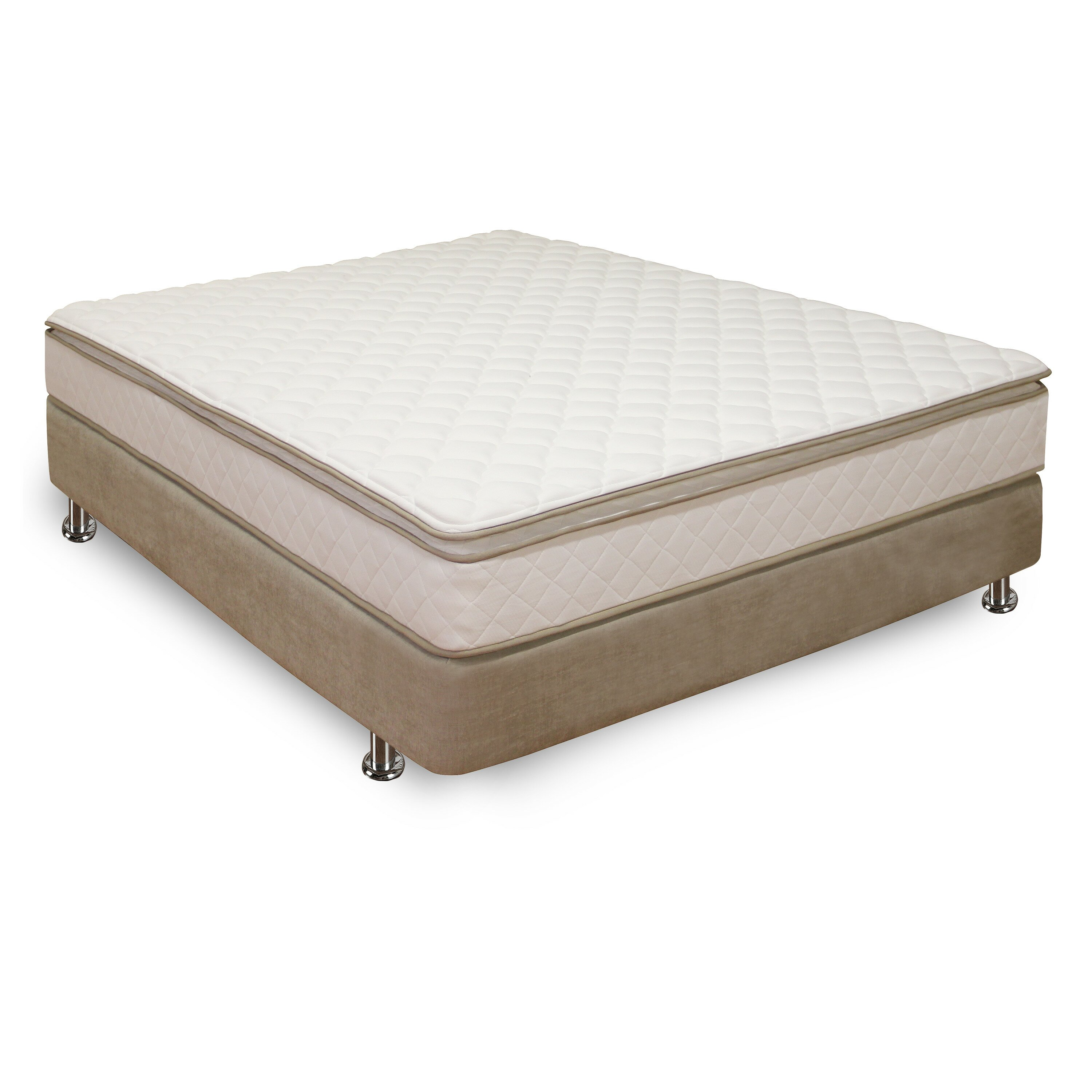 "Classic Brands Pillowtop Innerspring 10"" Firm Mattress"