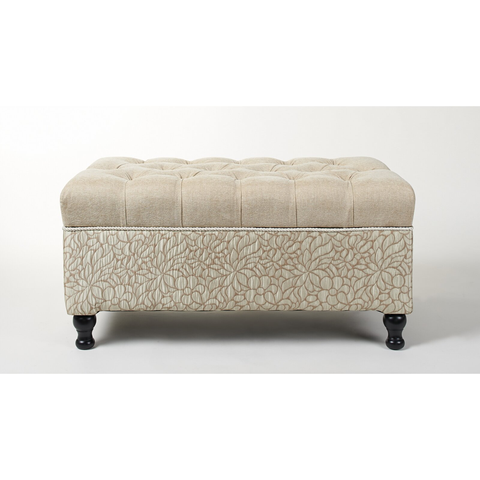 Jennifer taylor naomi upholstered storage bedroom bench for Bedroom upholstered bench