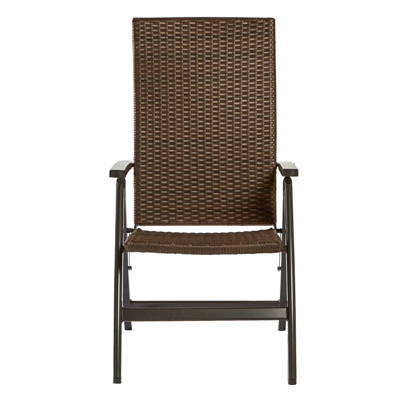 Greendale Home Fashions Wicker Outdoor Reclining Chair
