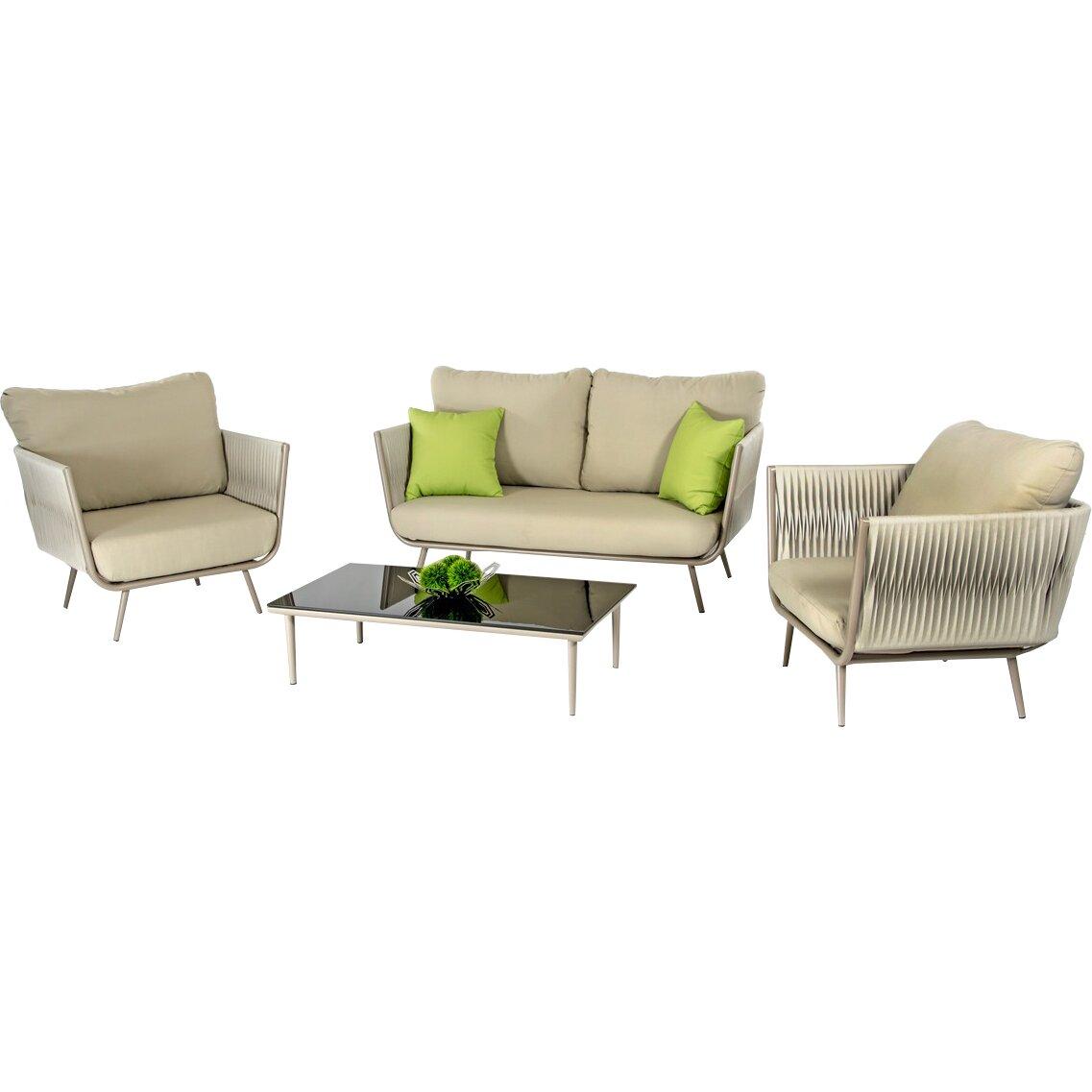 Vig furniture renava zoe outdoor 9 piece lounge seating for Outdoor furniture 9 piece
