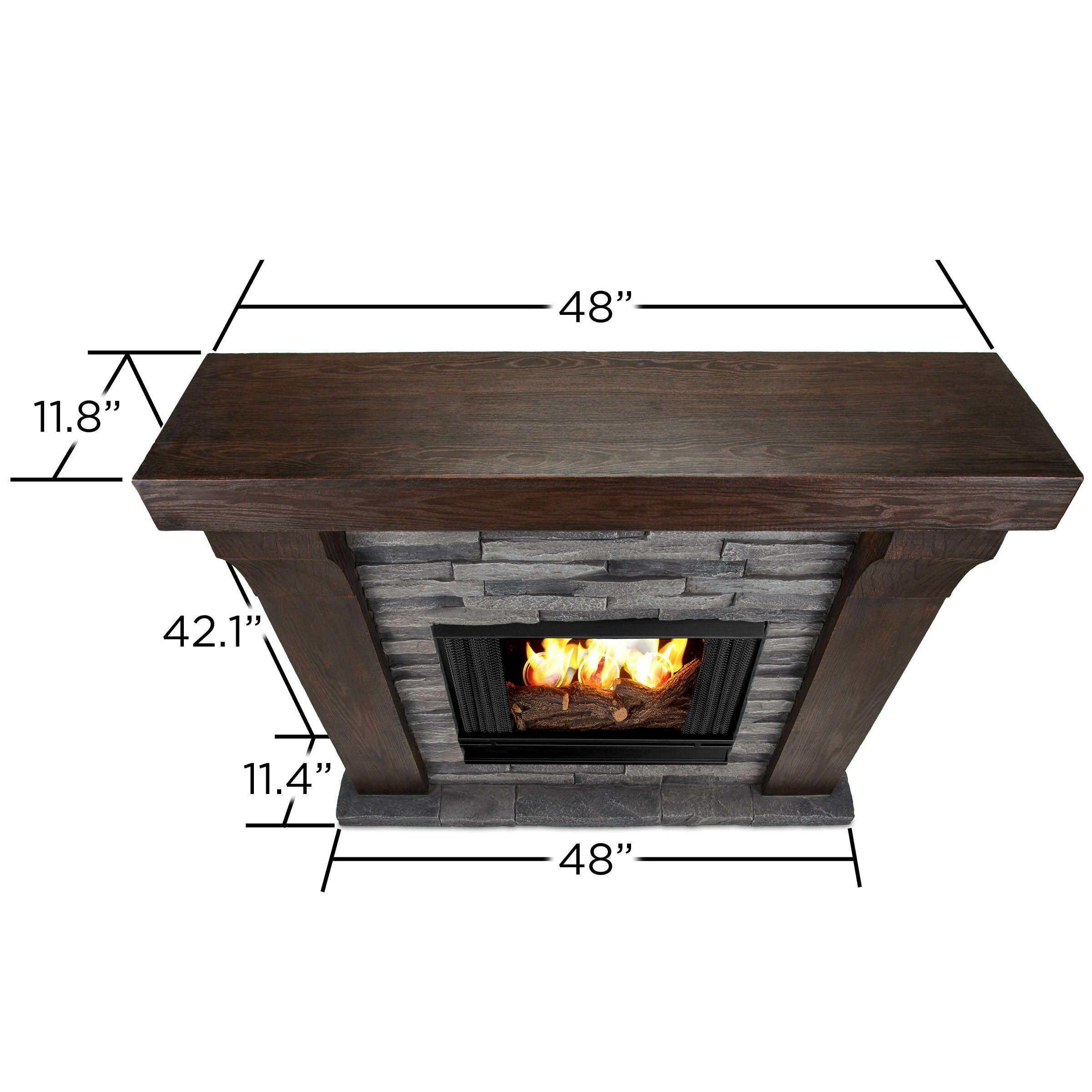Real flame avondale cast mantel gel fuel fireplace wayfair for Wayfair gel fireplace