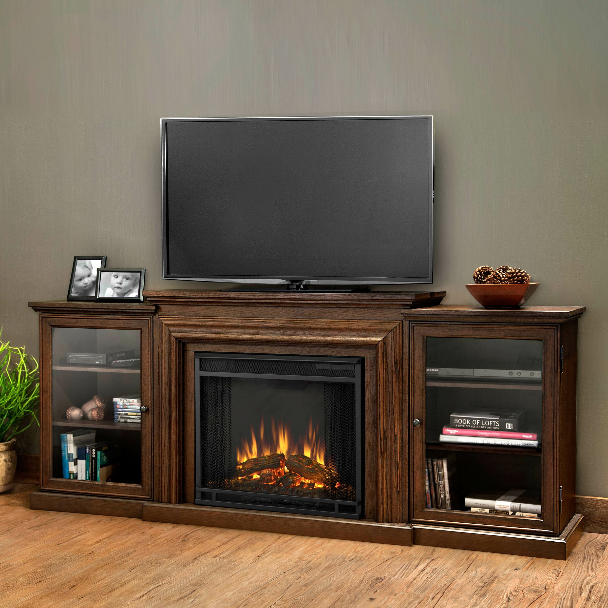 Real Flame Frederick Tv Stand With Electric Fireplace Reviews Wayfair