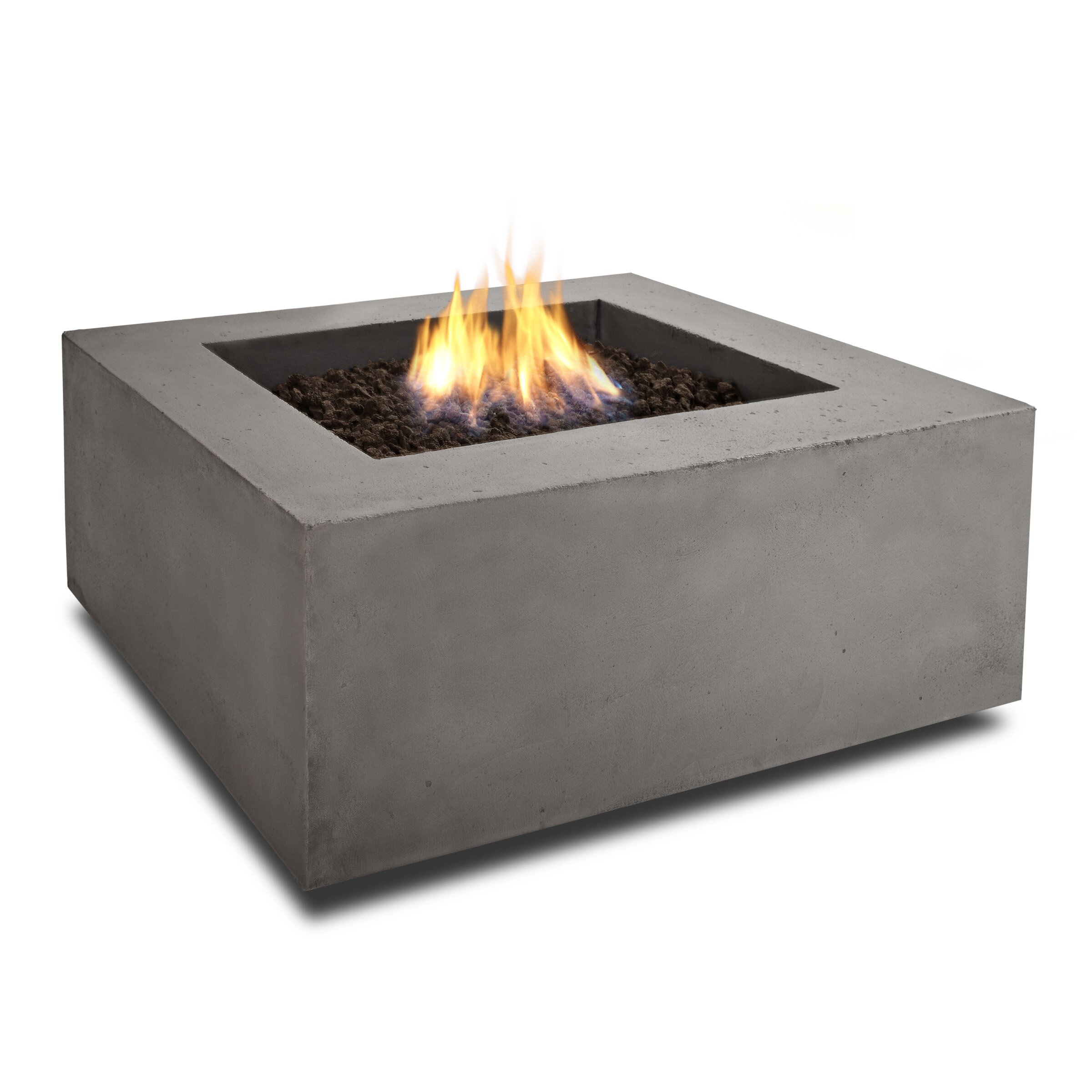 Real Flame Baltic Square Natural Gas Fire Pit Table
