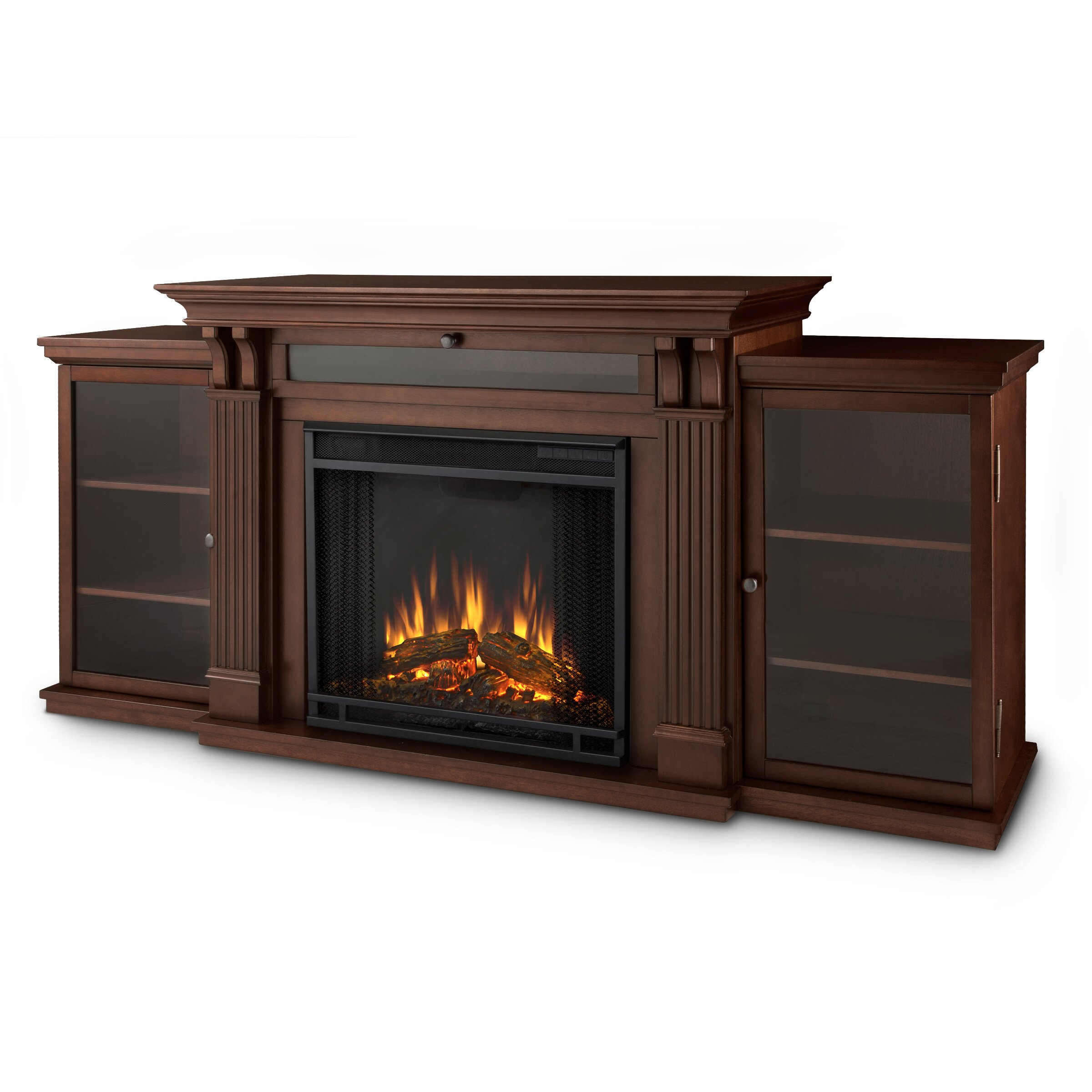 real calie tv stand with electric fireplace
