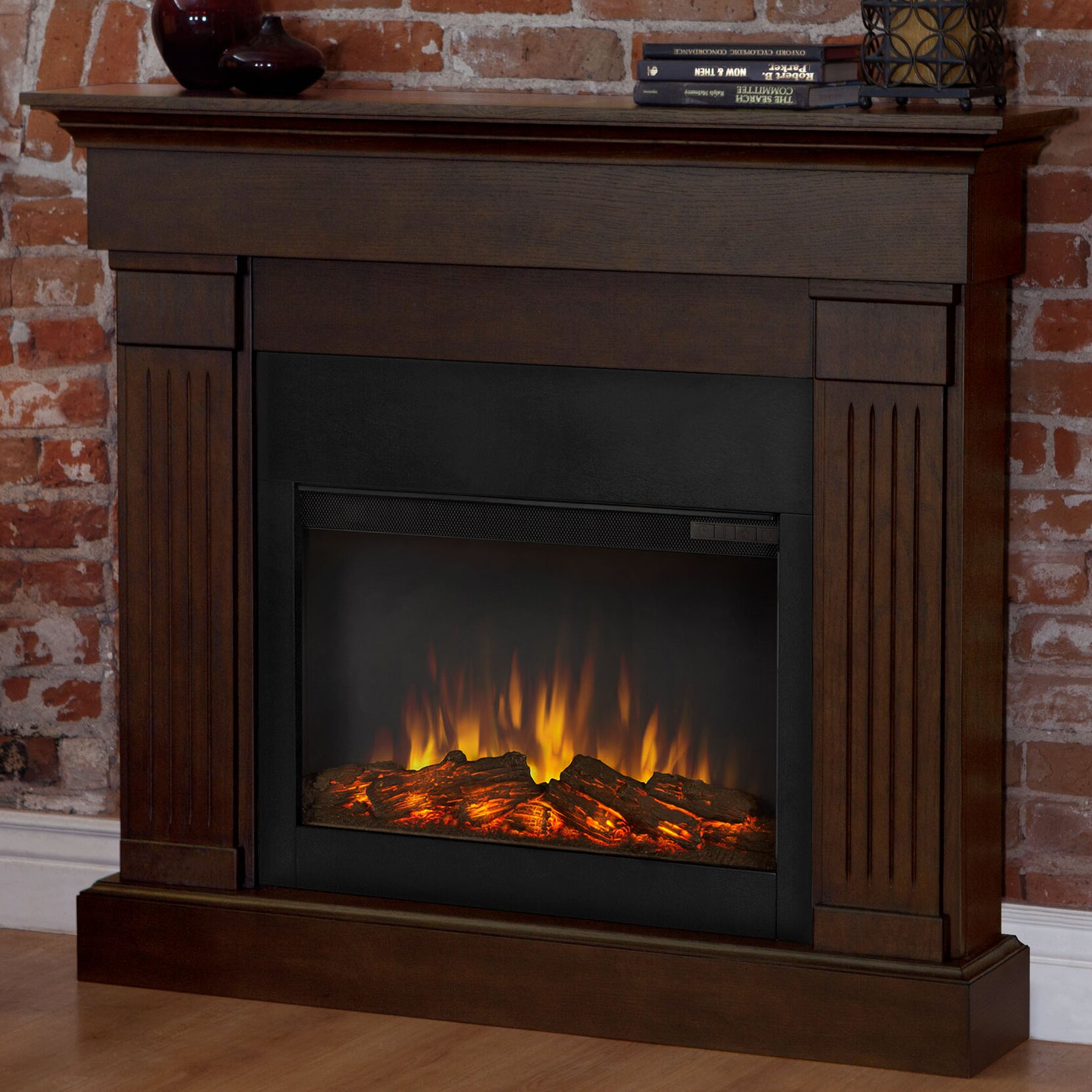 real flame slim crawford wall mounted electric fireplace