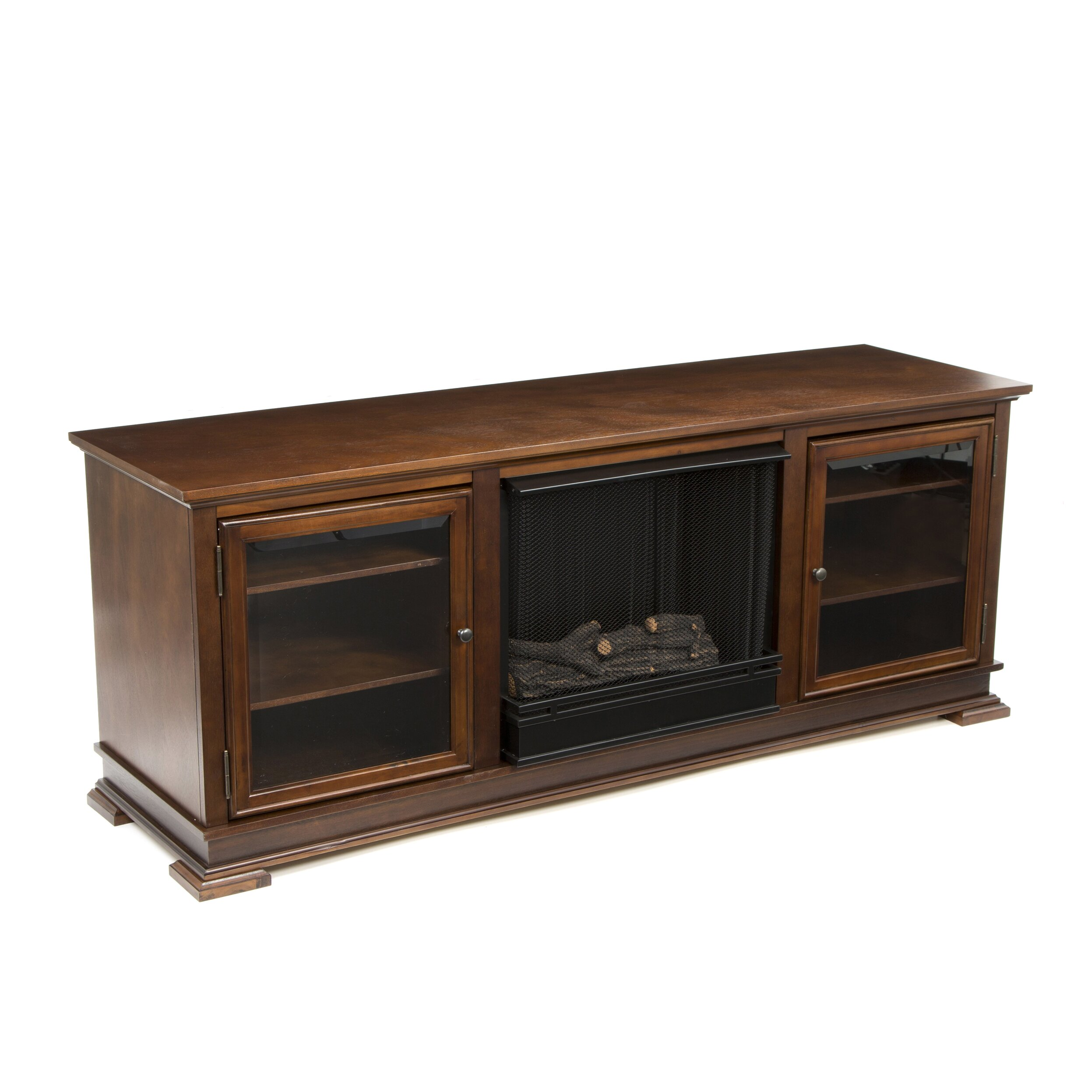 home decorators collection matias 36 in glass front wall stand