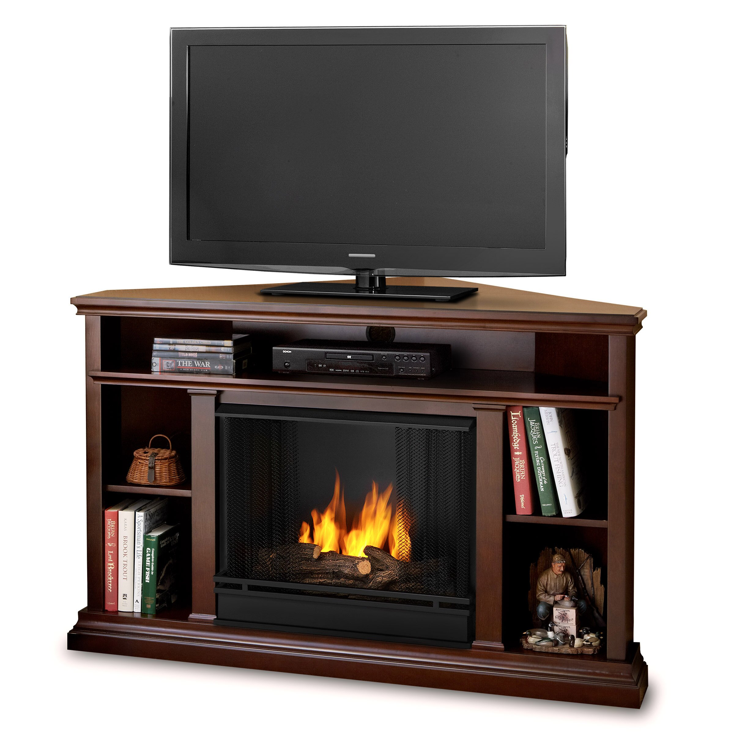 real flame churchill tv stand reviews wayfair. Black Bedroom Furniture Sets. Home Design Ideas