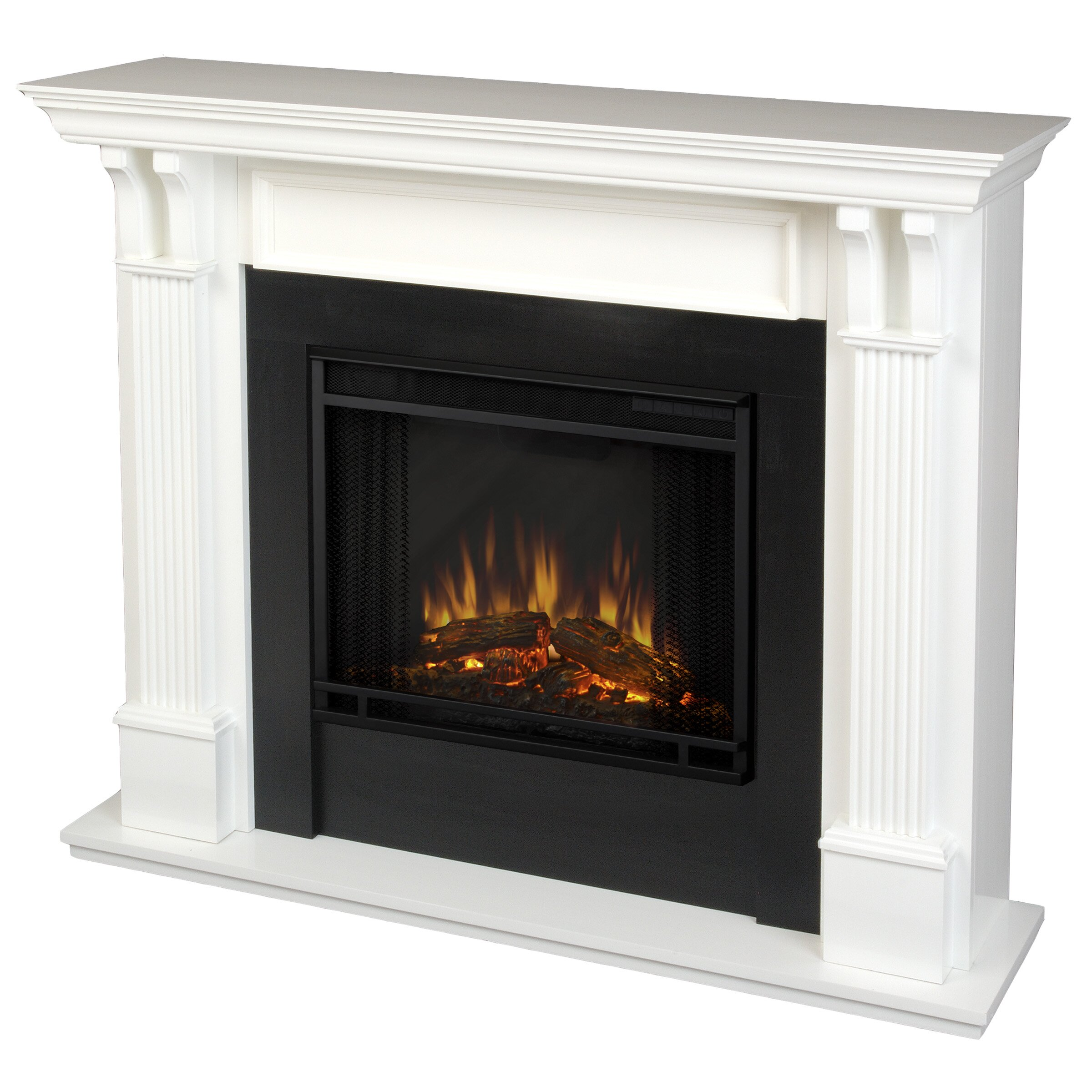 Real flame ashley electric fireplace reviews wayfair for Bedroom electric fireplace