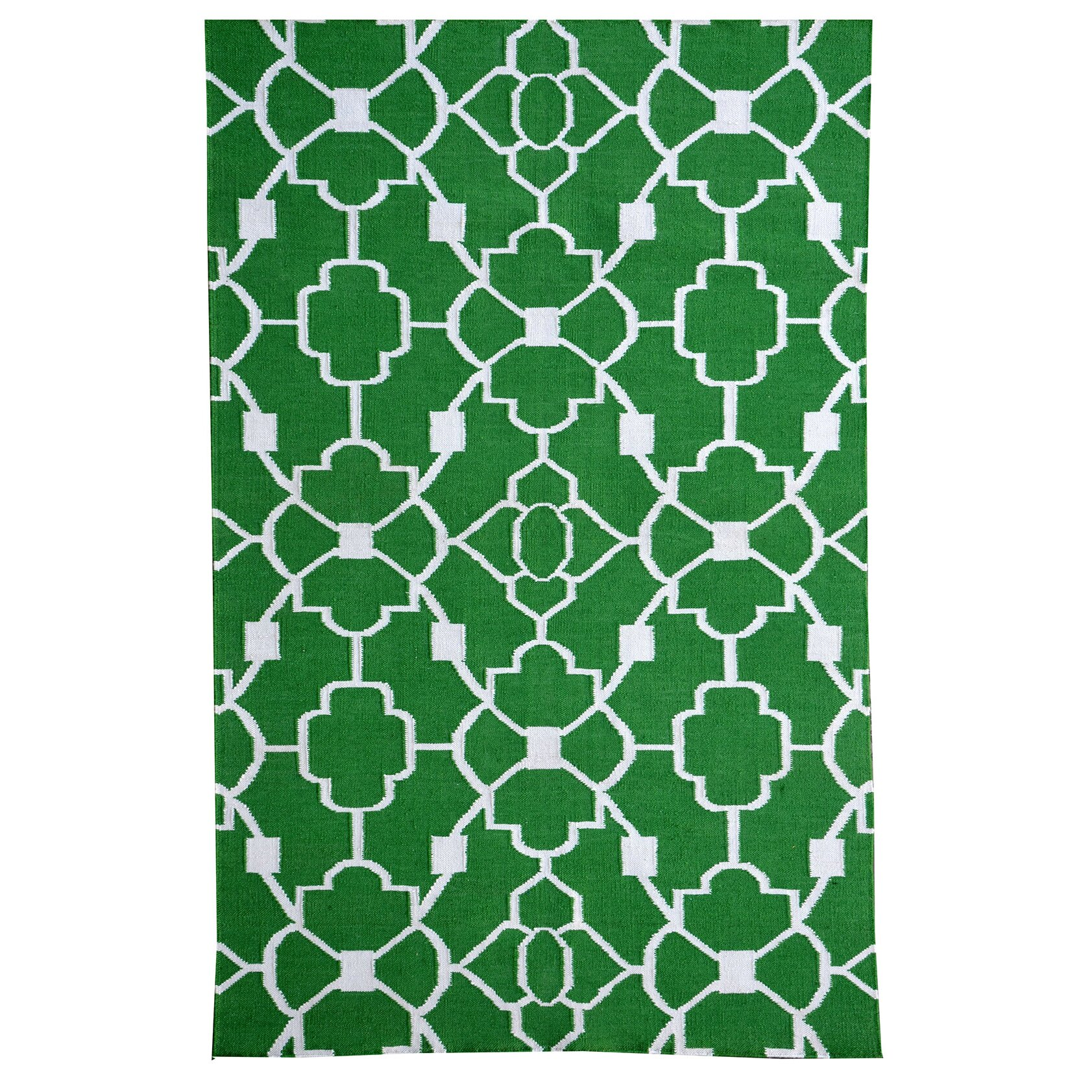 Meva rugs thai 02 green indoor outdoor area rug wayfair for Indoor outdoor carpet green