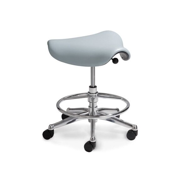 Humanscale Height Adjustable Saddle Seat With Casters Reviews Wayfair
